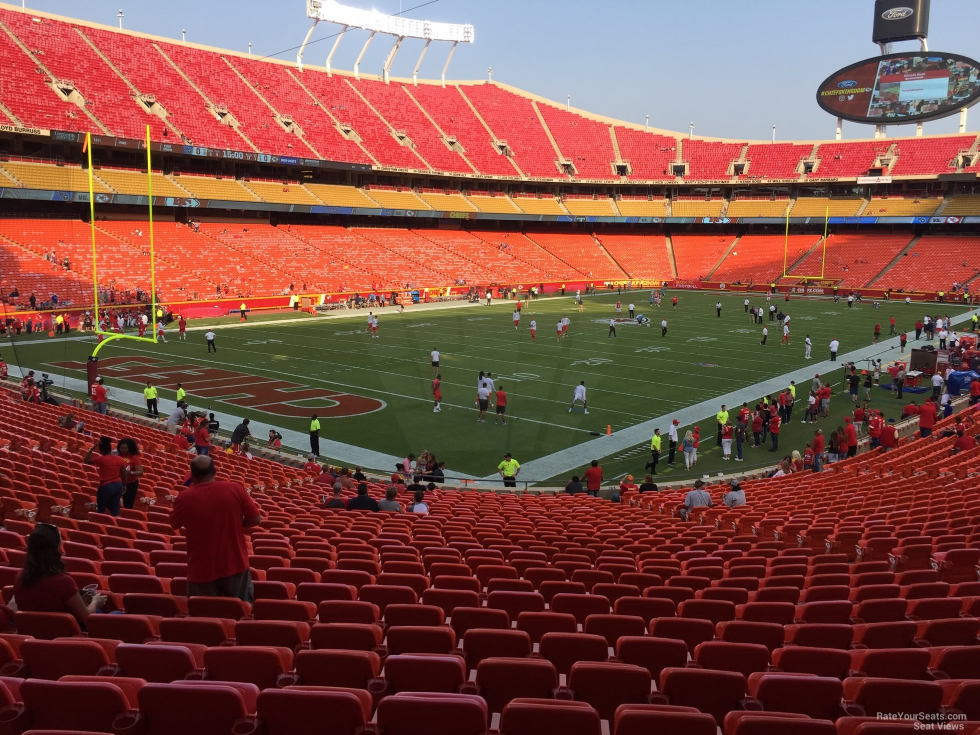 Seat View for Arrowhead Stadium Section 125, Row 30