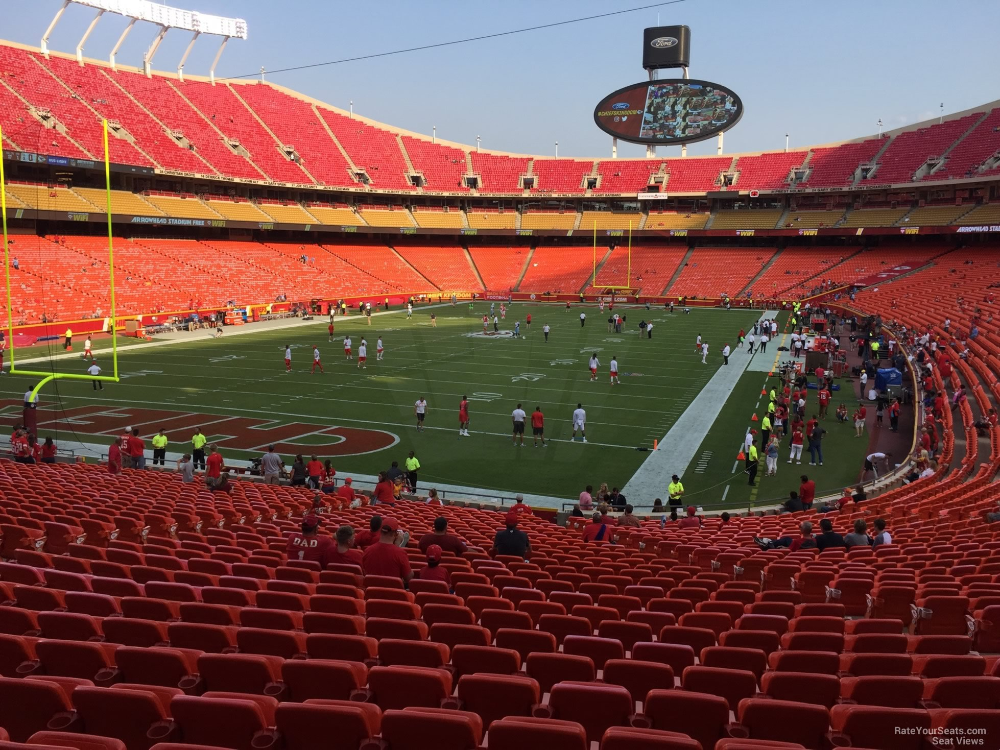Seat View for Arrowhead Stadium Section 126, Row 30