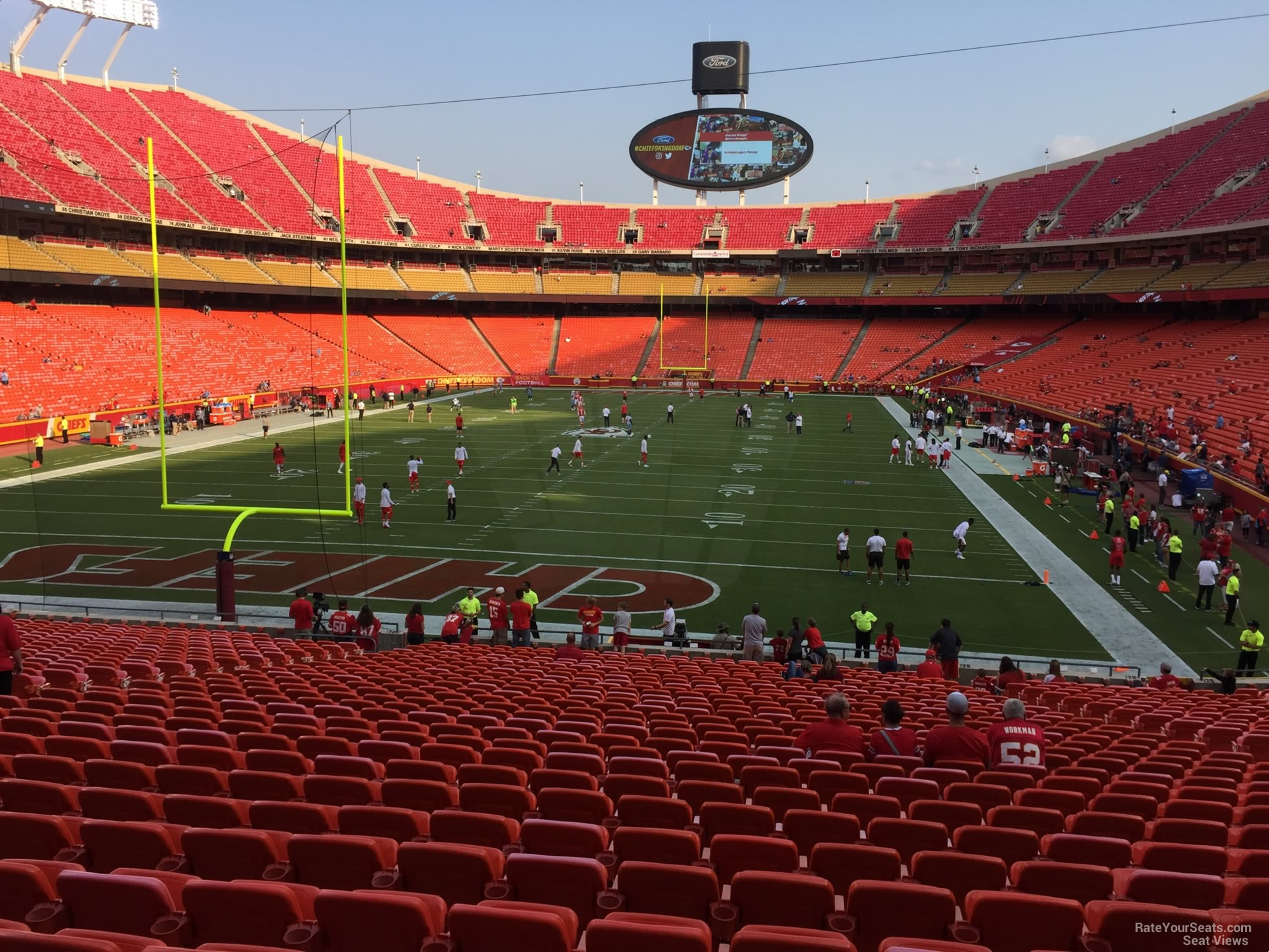 Seat View for Arrowhead Stadium Section 127, Row 30