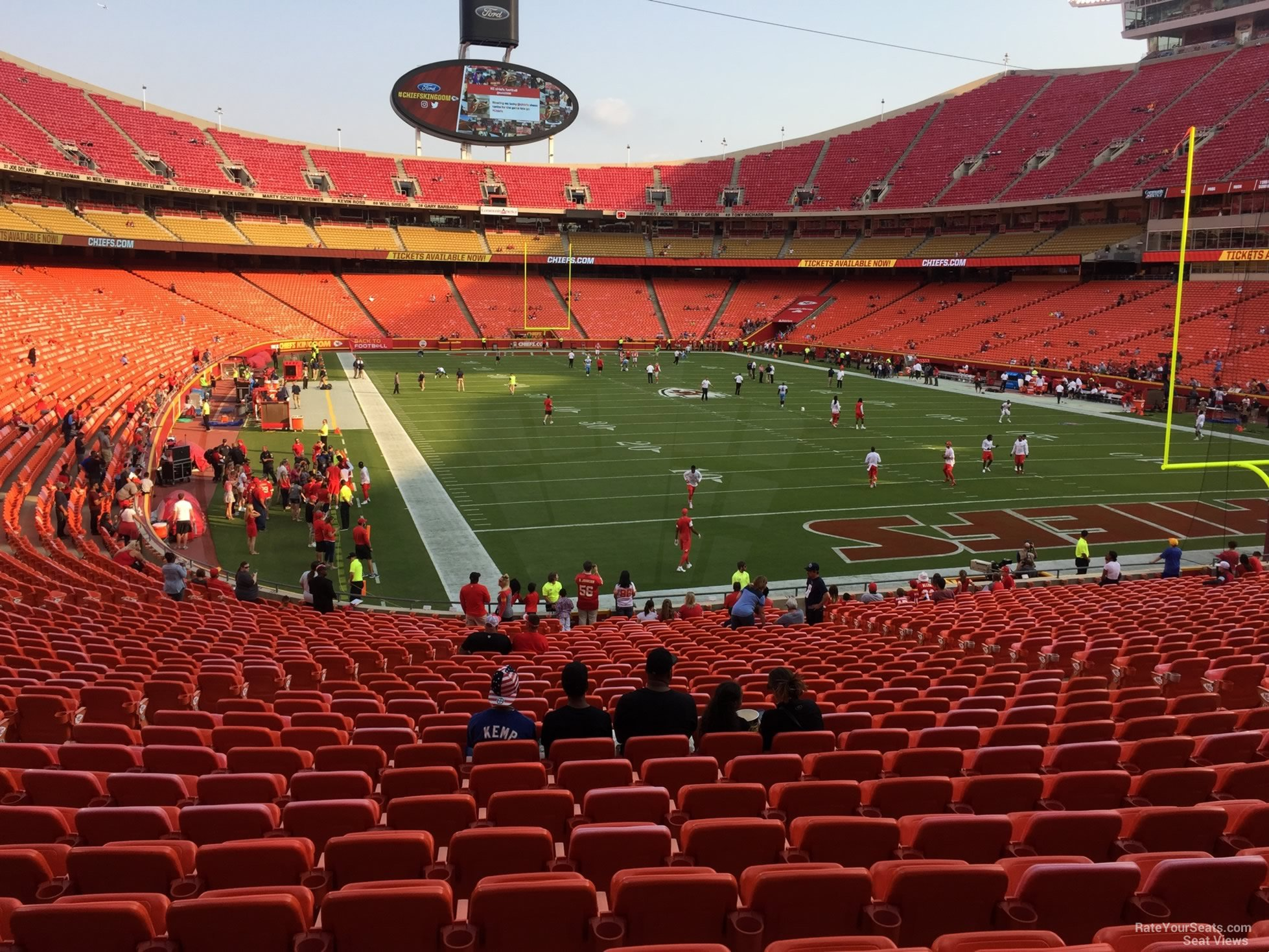 Seat View for Arrowhead Stadium Section 130, Row 30