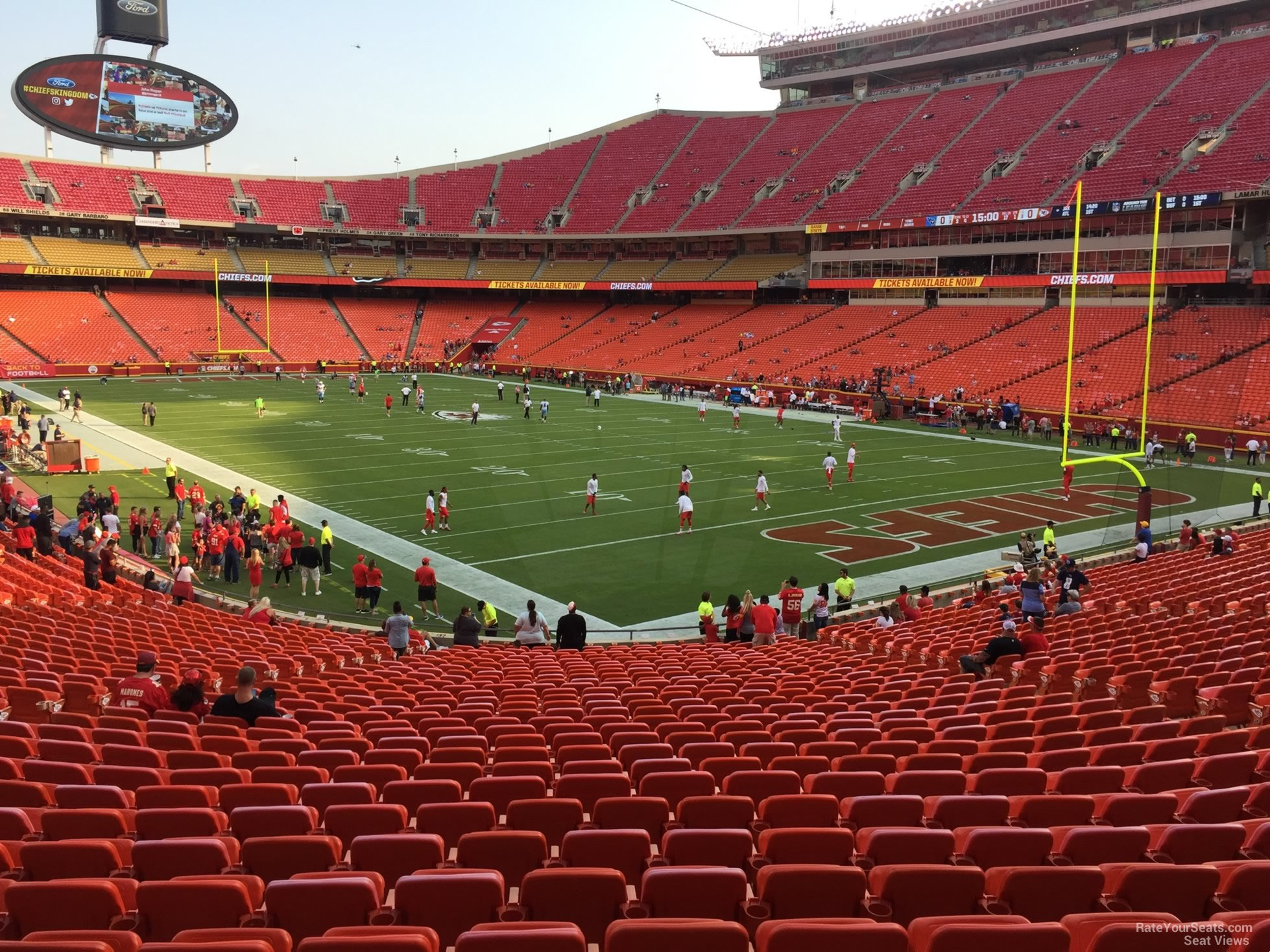 Seat View for Arrowhead Stadium Section 131, Row 30
