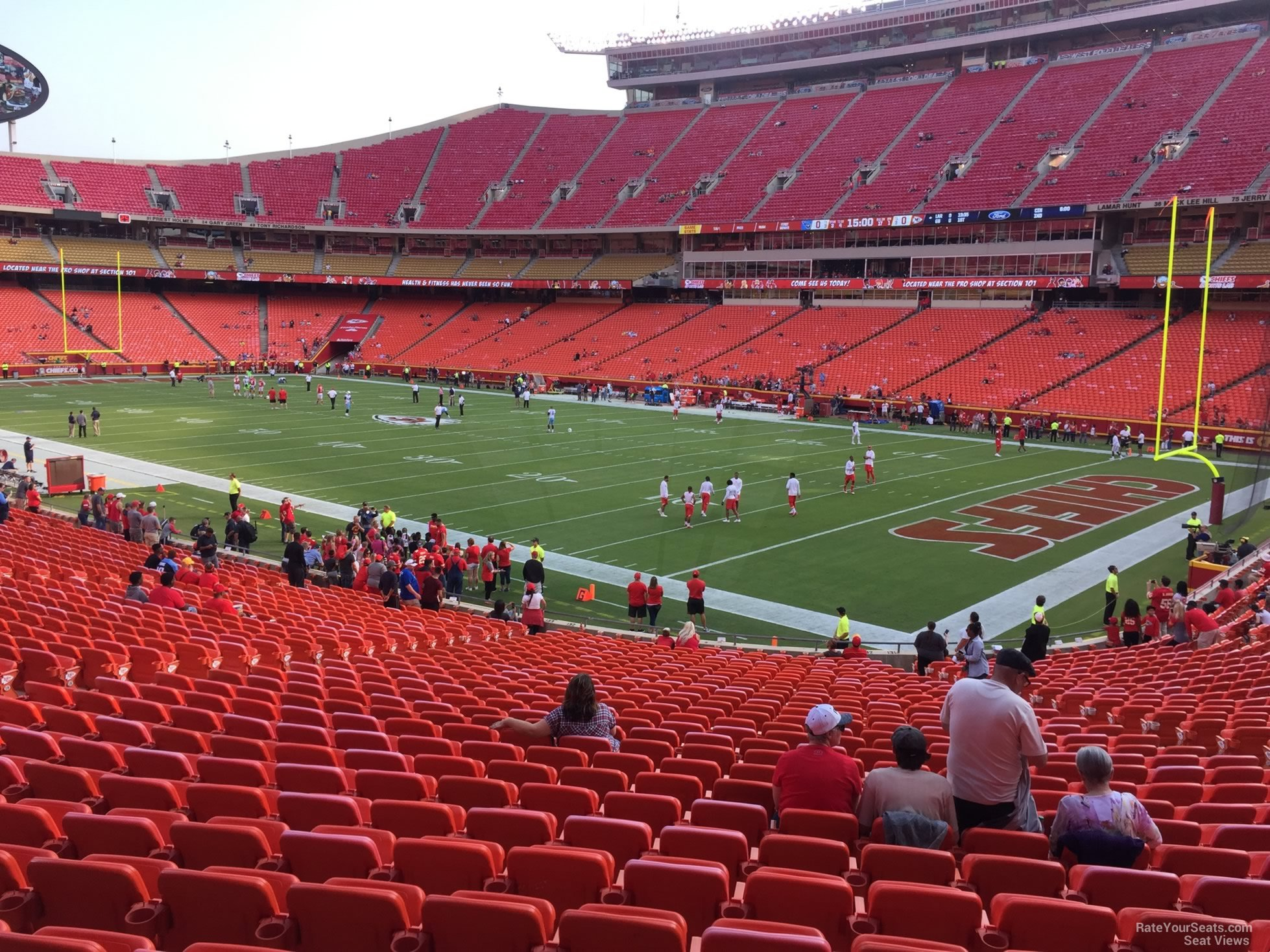 Seat View for Arrowhead Stadium Section 132, Row 30