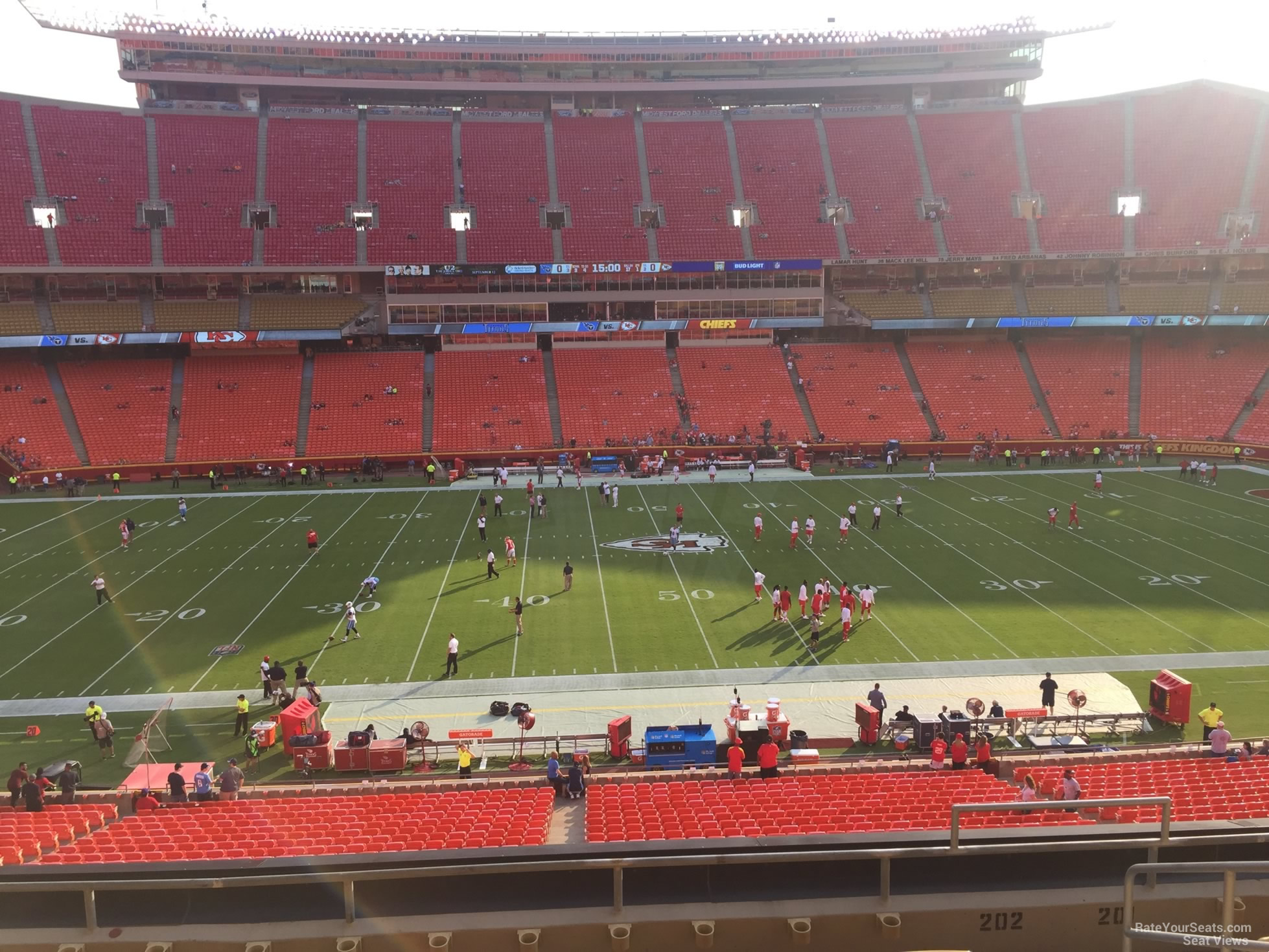 Seat View for Arrowhead Stadium Section 202, Row 7