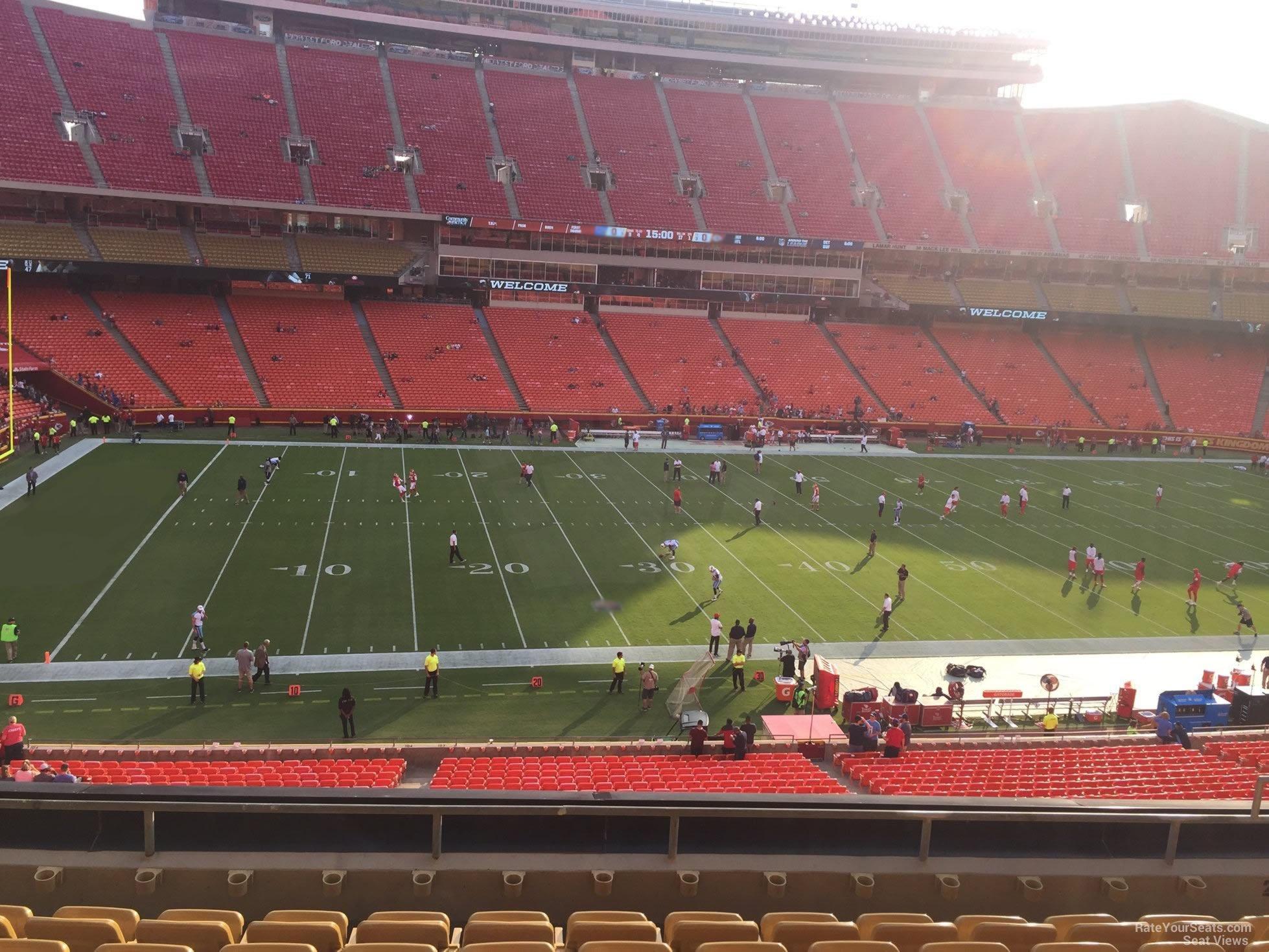 Arrowhead Stadium Section 204 - RateYourSeats.com