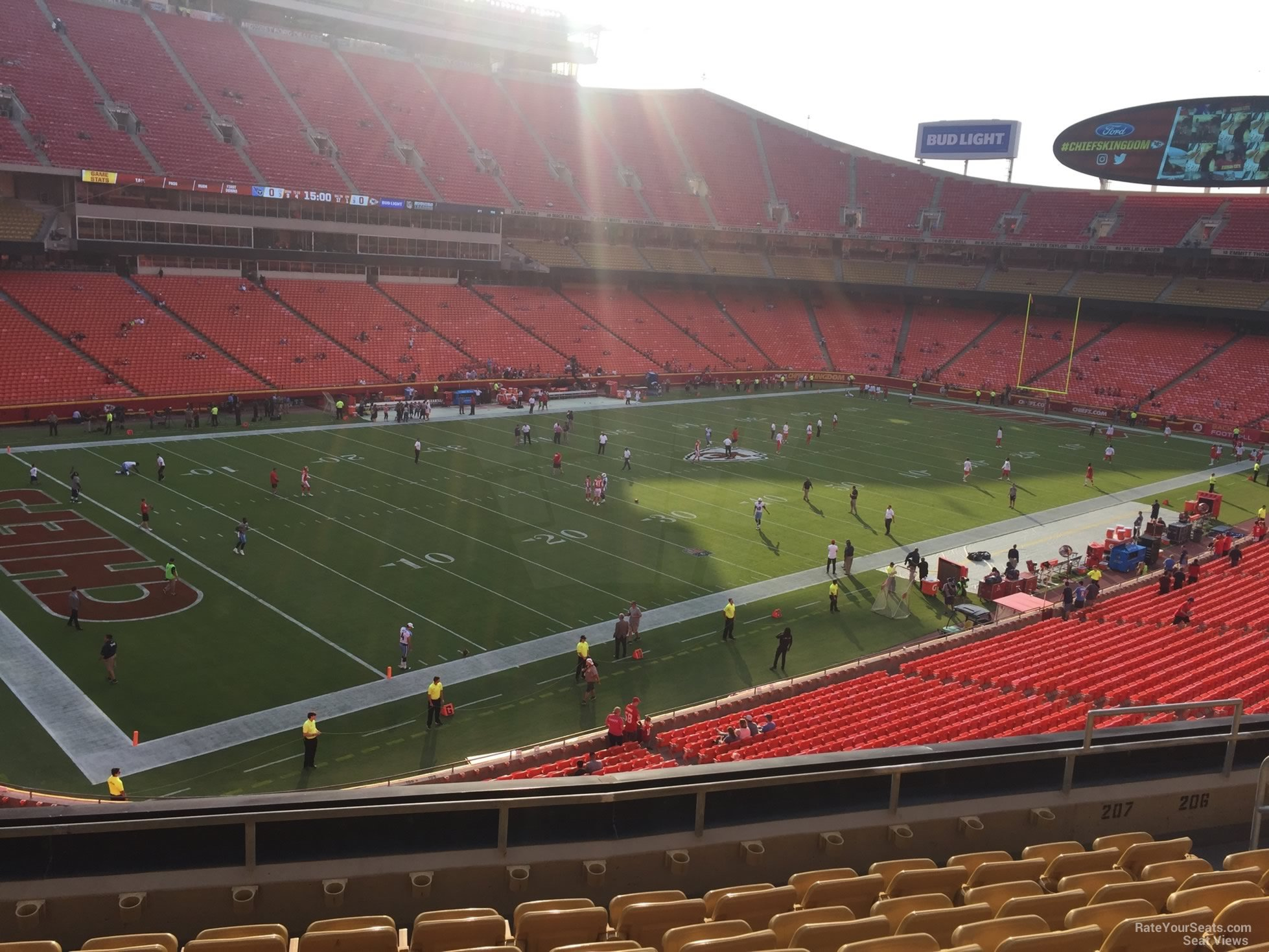 Seat View for Arrowhead Stadium Section 207, Row 7