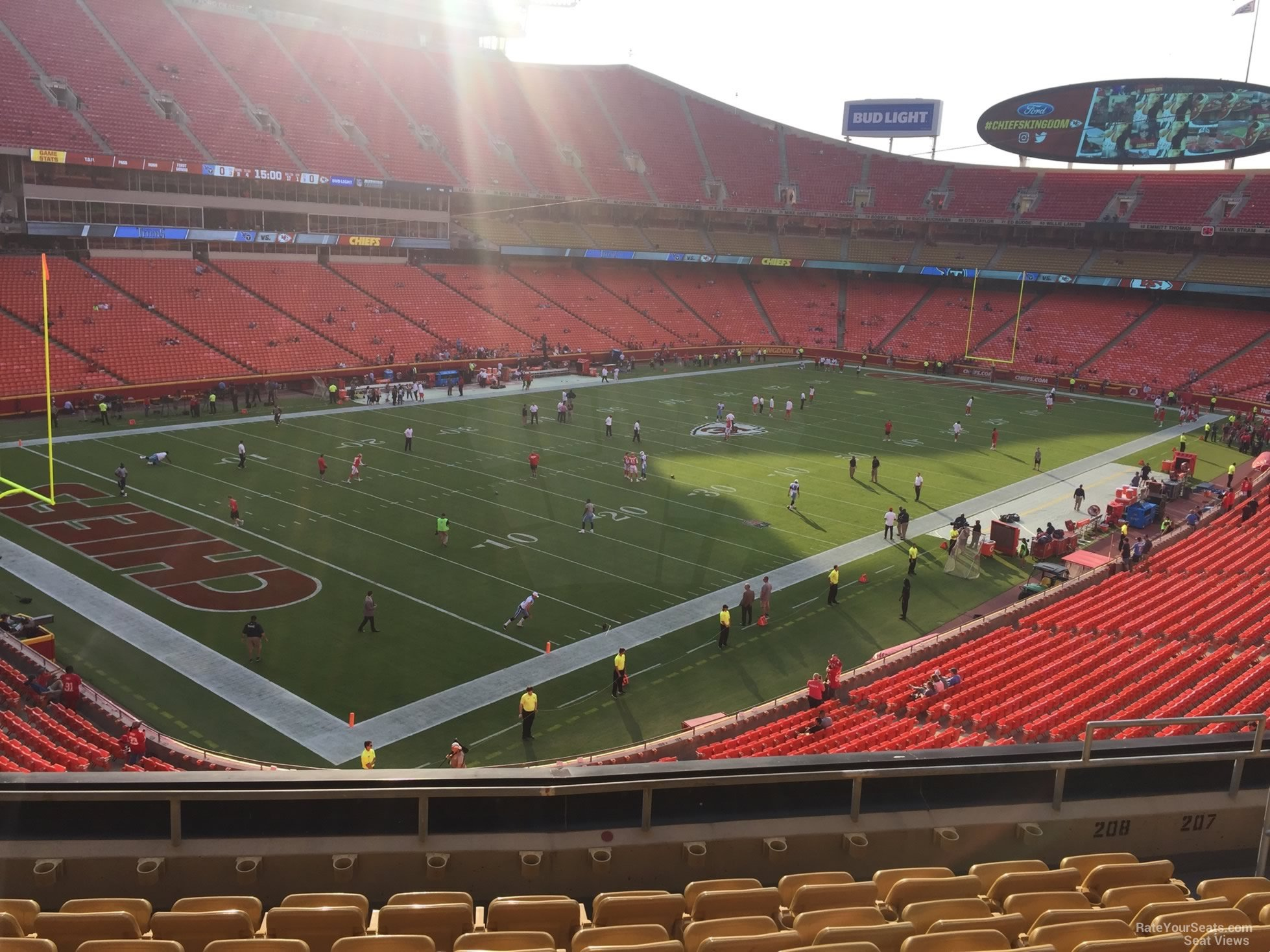 Seat View for Arrowhead Stadium Section 208, Row 7