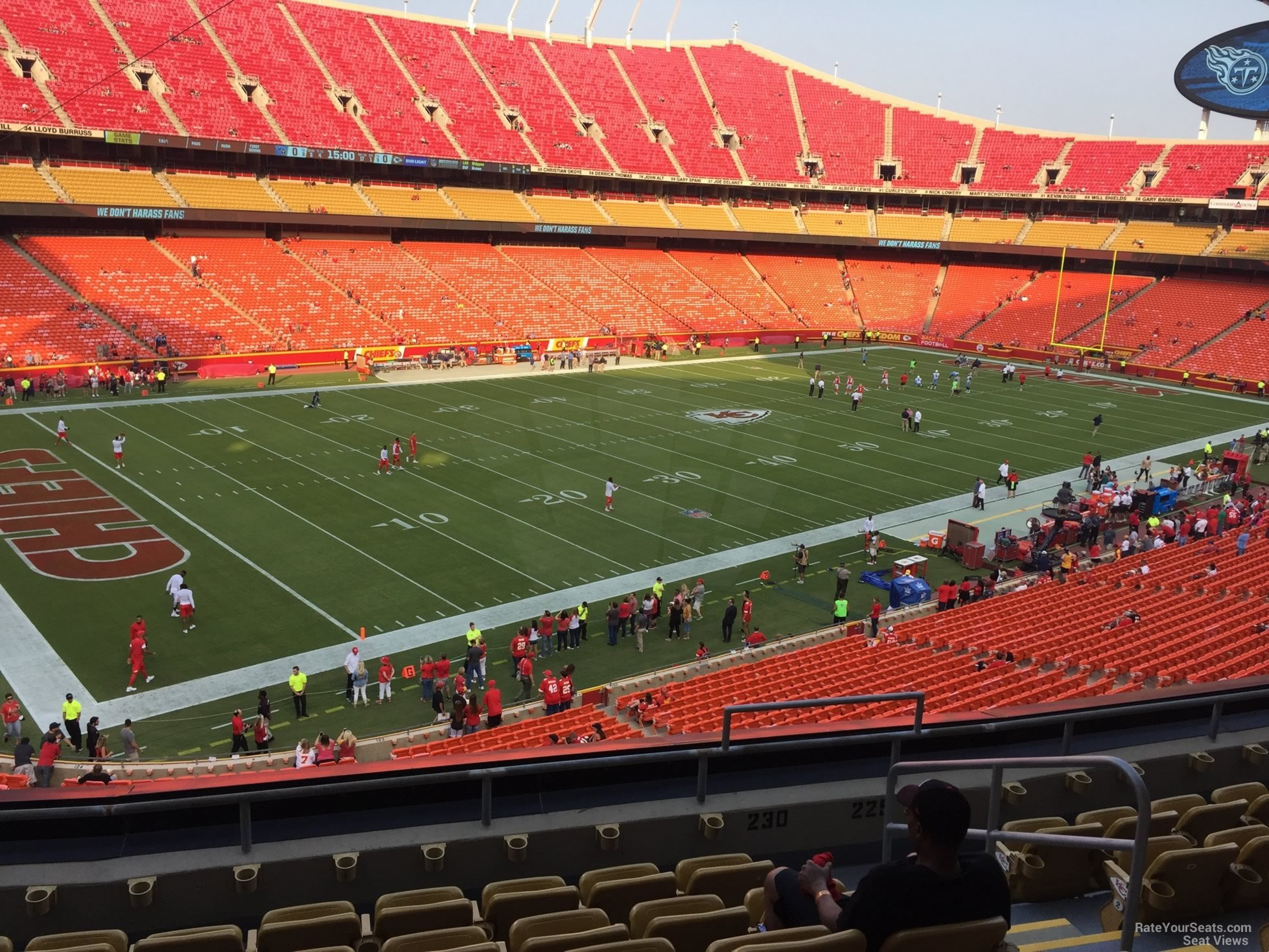 Seat View for Arrowhead Stadium Section 230, Row 7