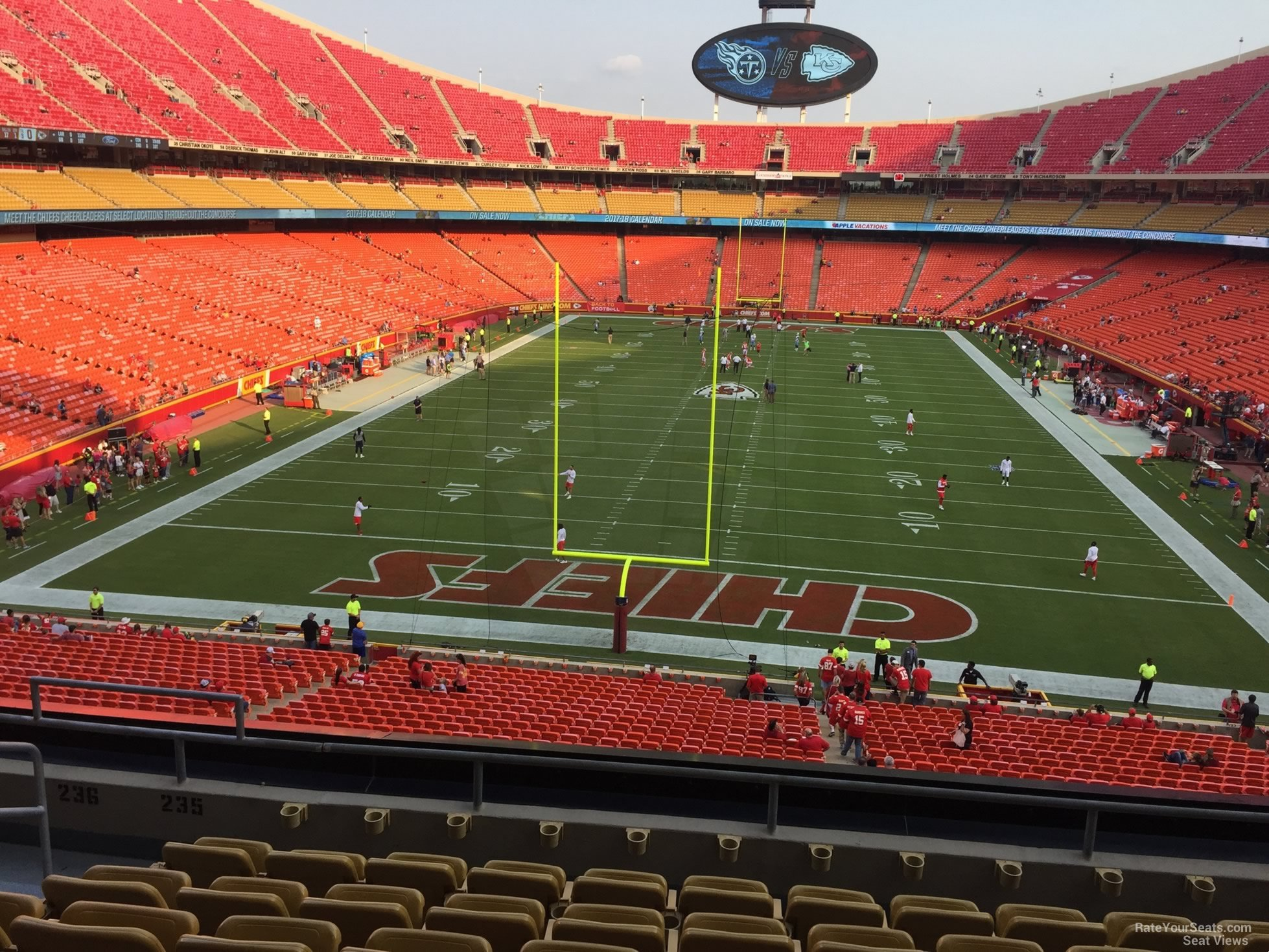 Seat View for Arrowhead Stadium Section 235, Row 7