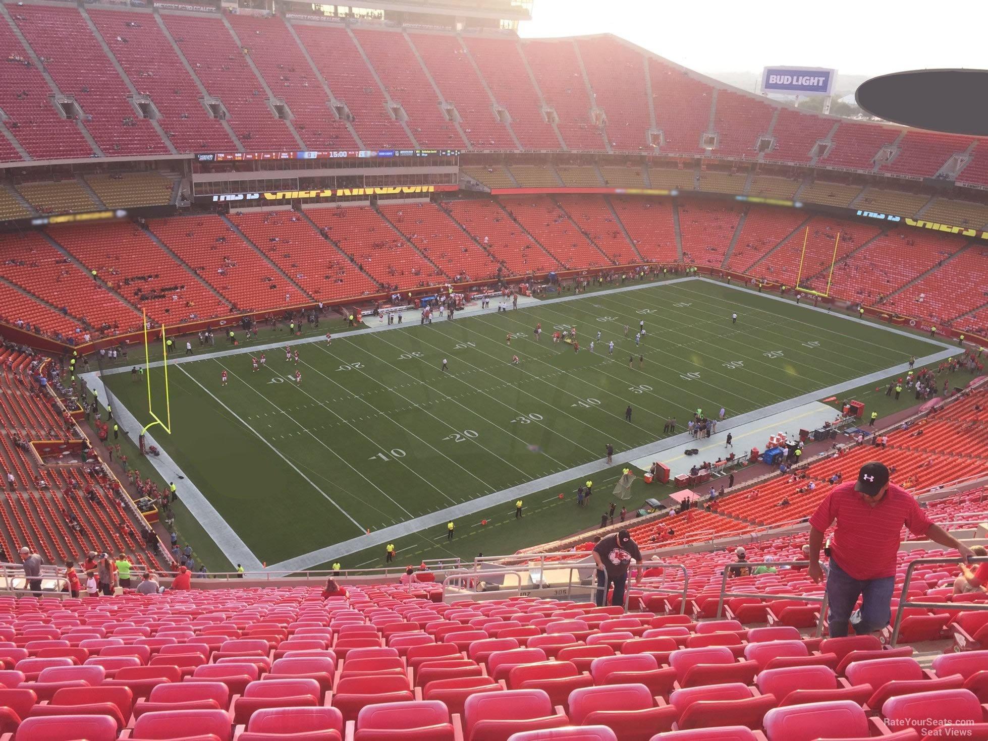 Arrowhead Stadium Section 307 - RateYourSeats.com