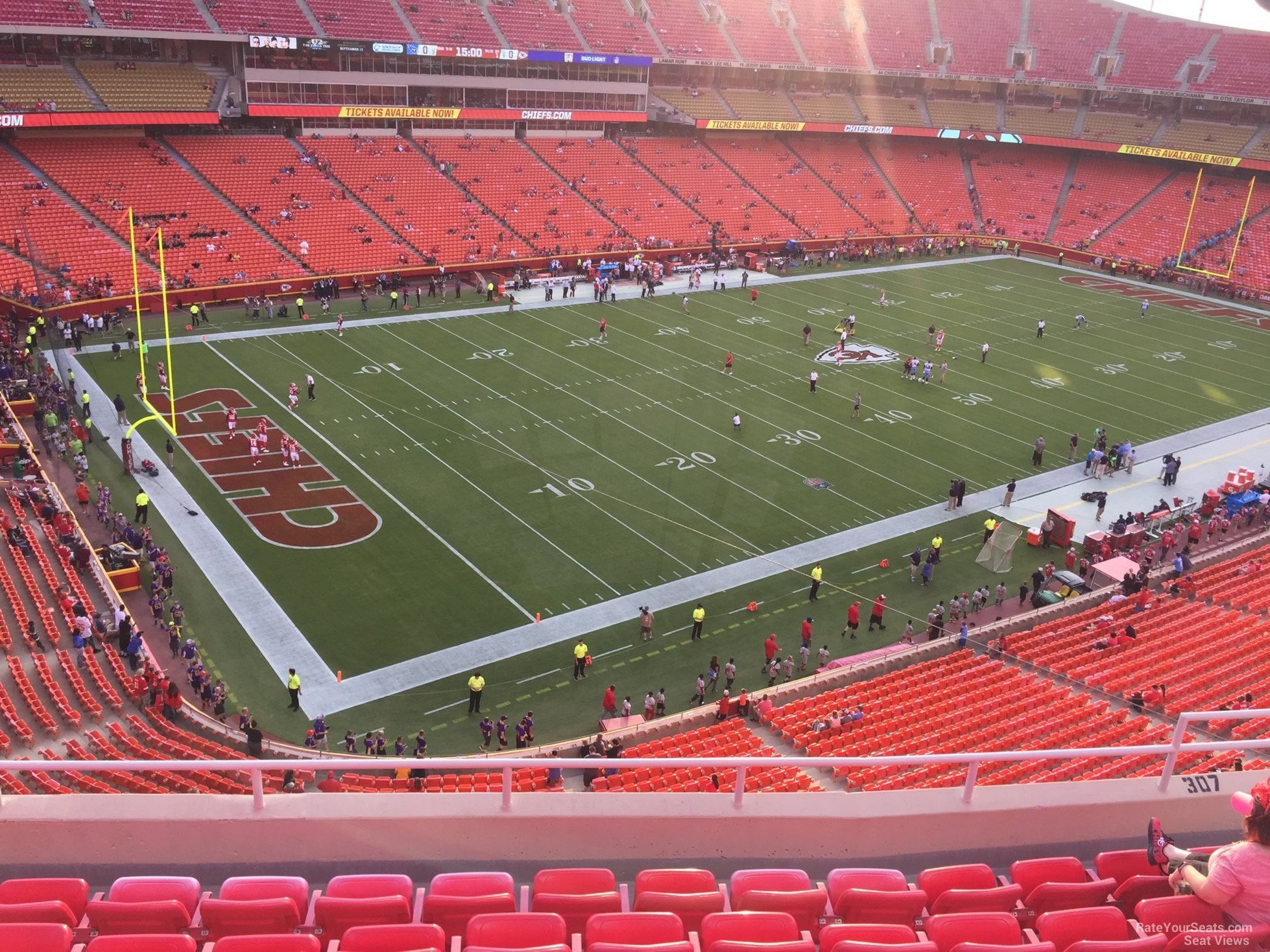 Seat View for Arrowhead Stadium Section 307, Row 7