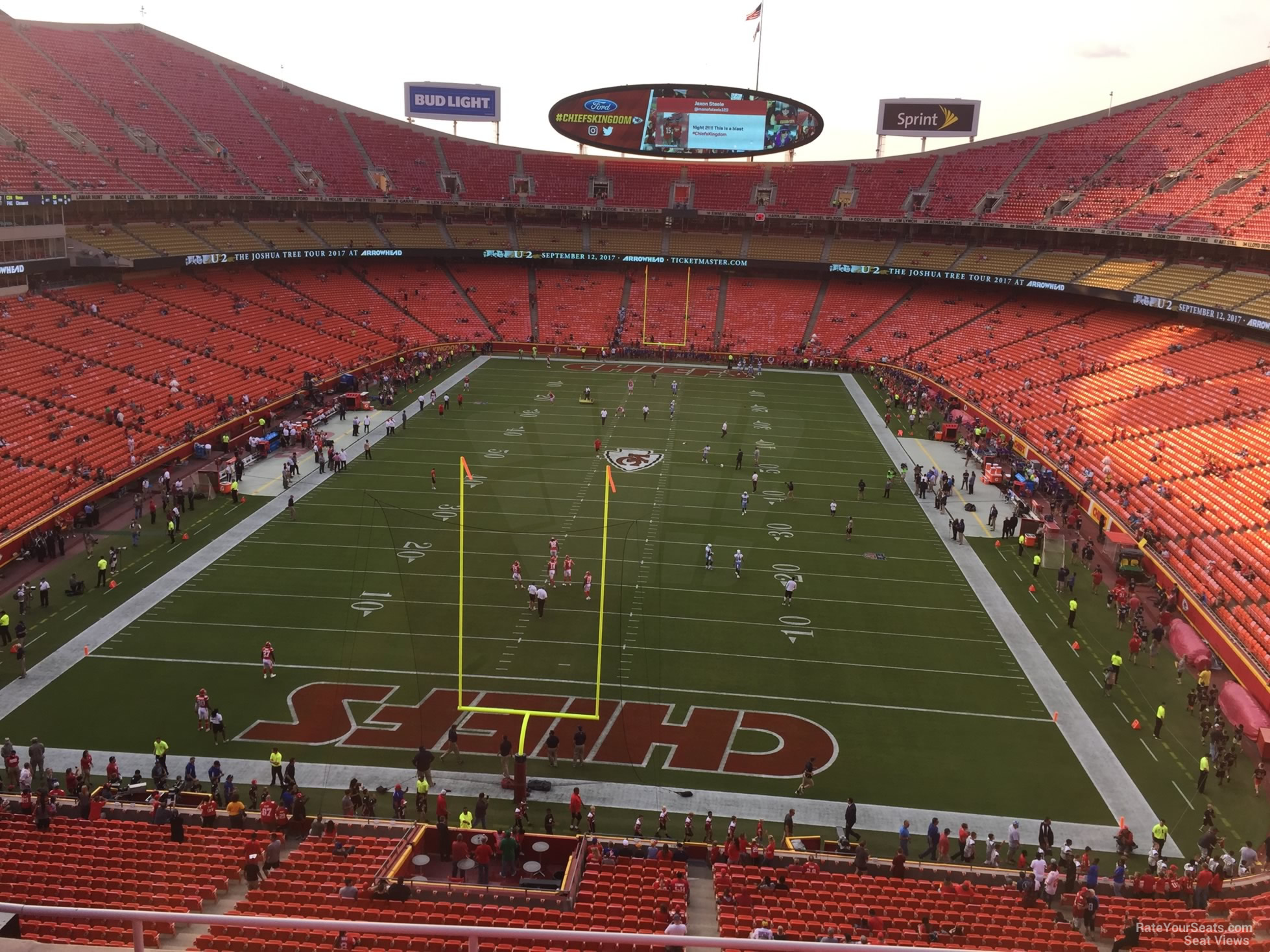 Seat View for Arrowhead Stadium Section 312, Row 7