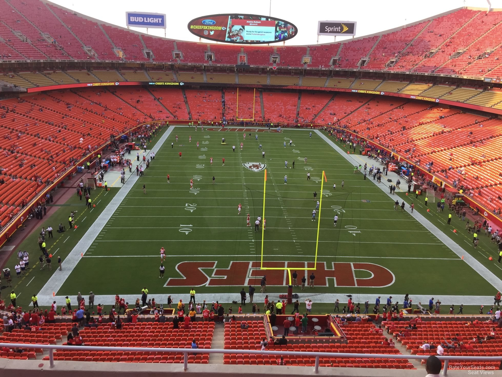 Seat View for Arrowhead Stadium Section 313, Row 7