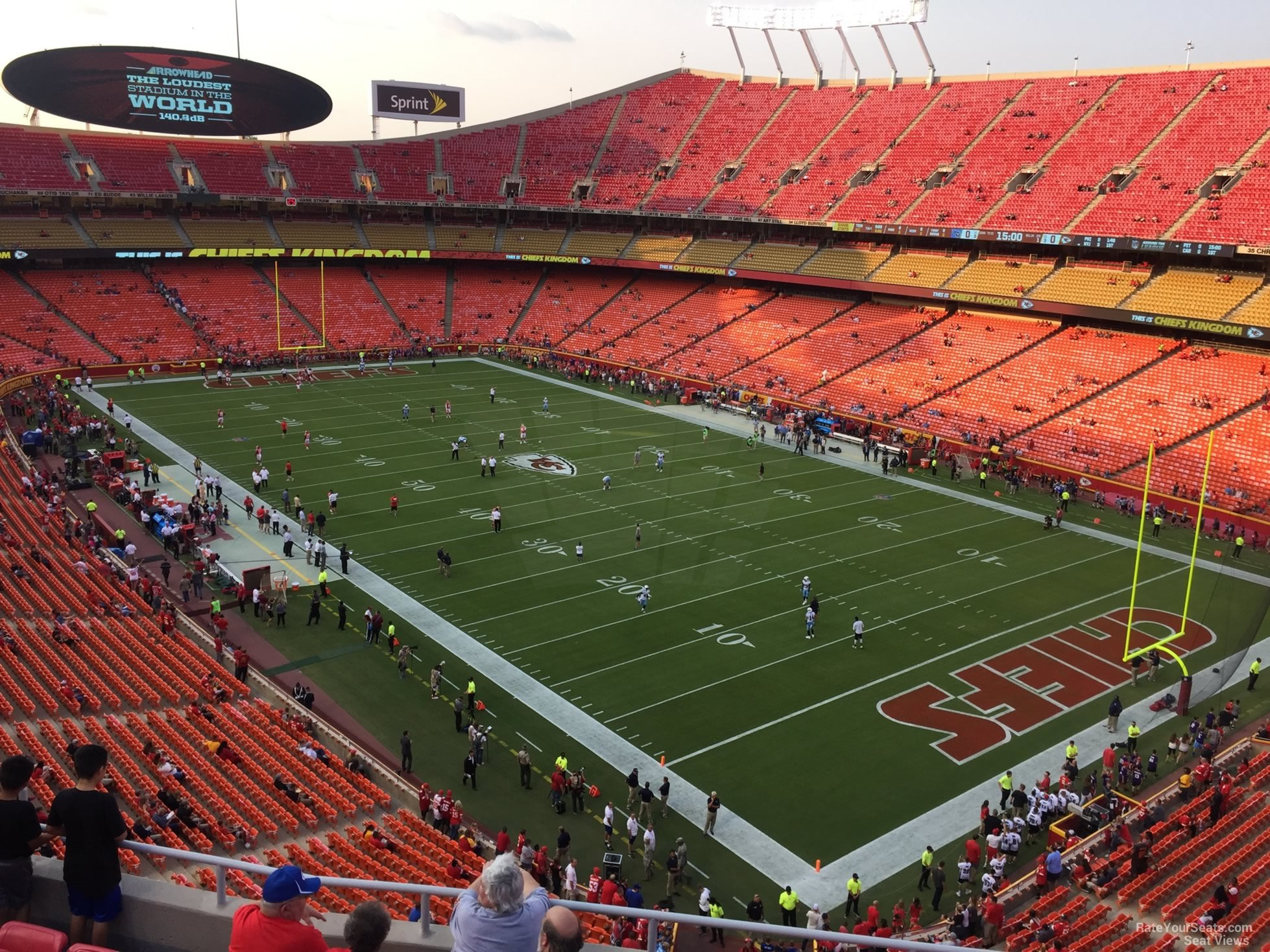 Seat View for Arrowhead Stadium Section 317, Row 7