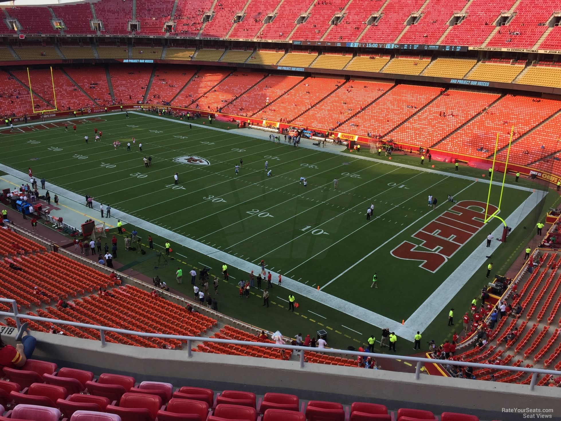 Seat View for Arrowhead Stadium Section 318, Row 7