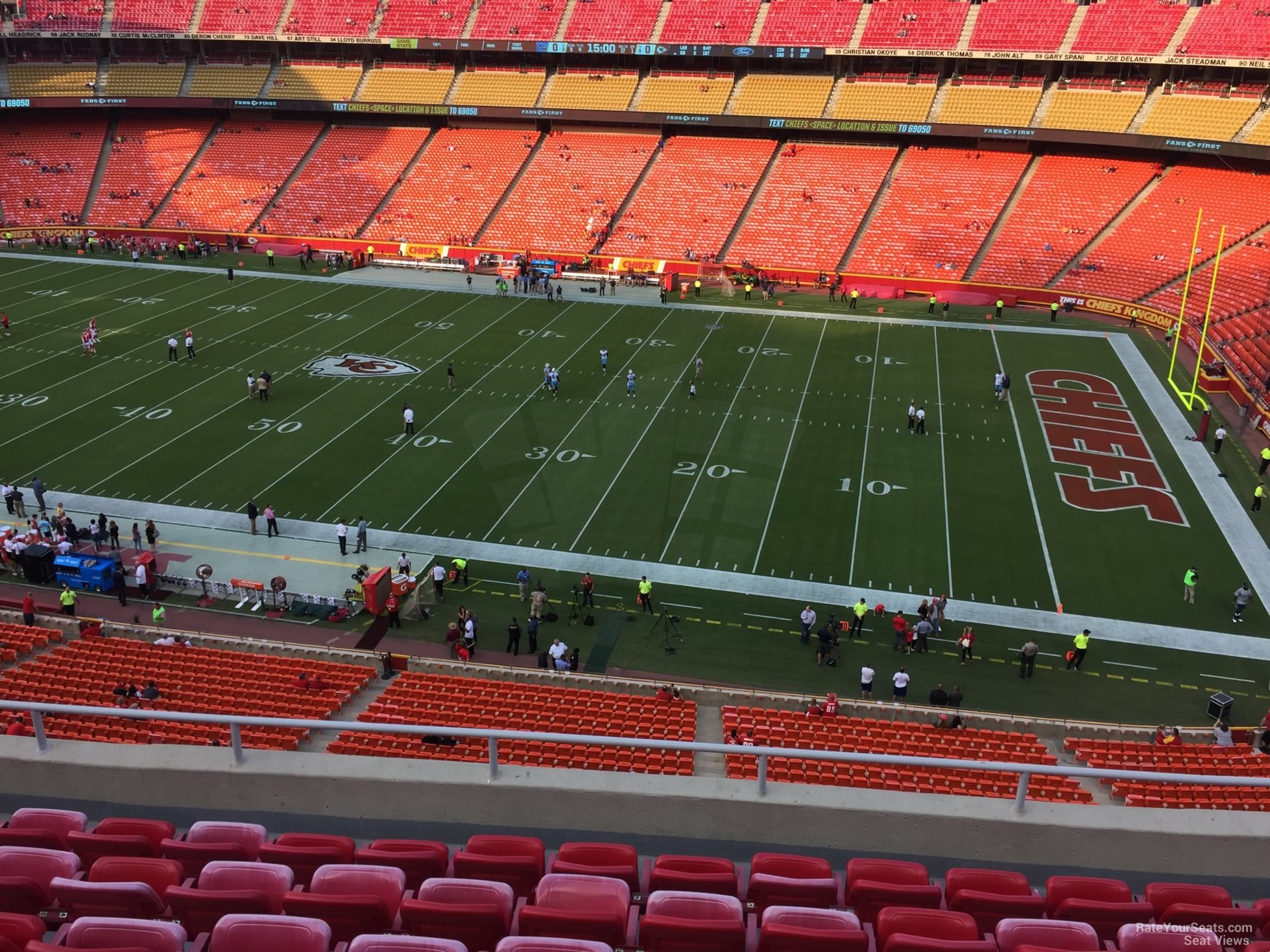Seat View for Arrowhead Stadium Section 321, Row 7