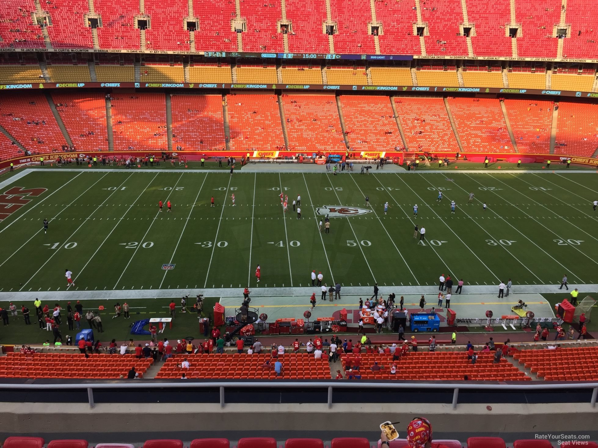 Seat View for Arrowhead Stadium Section 325, Row 7
