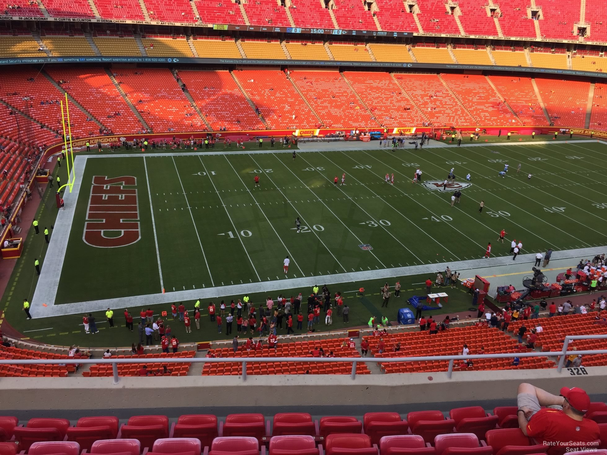 Seat View for Arrowhead Stadium Section 328, Row 7