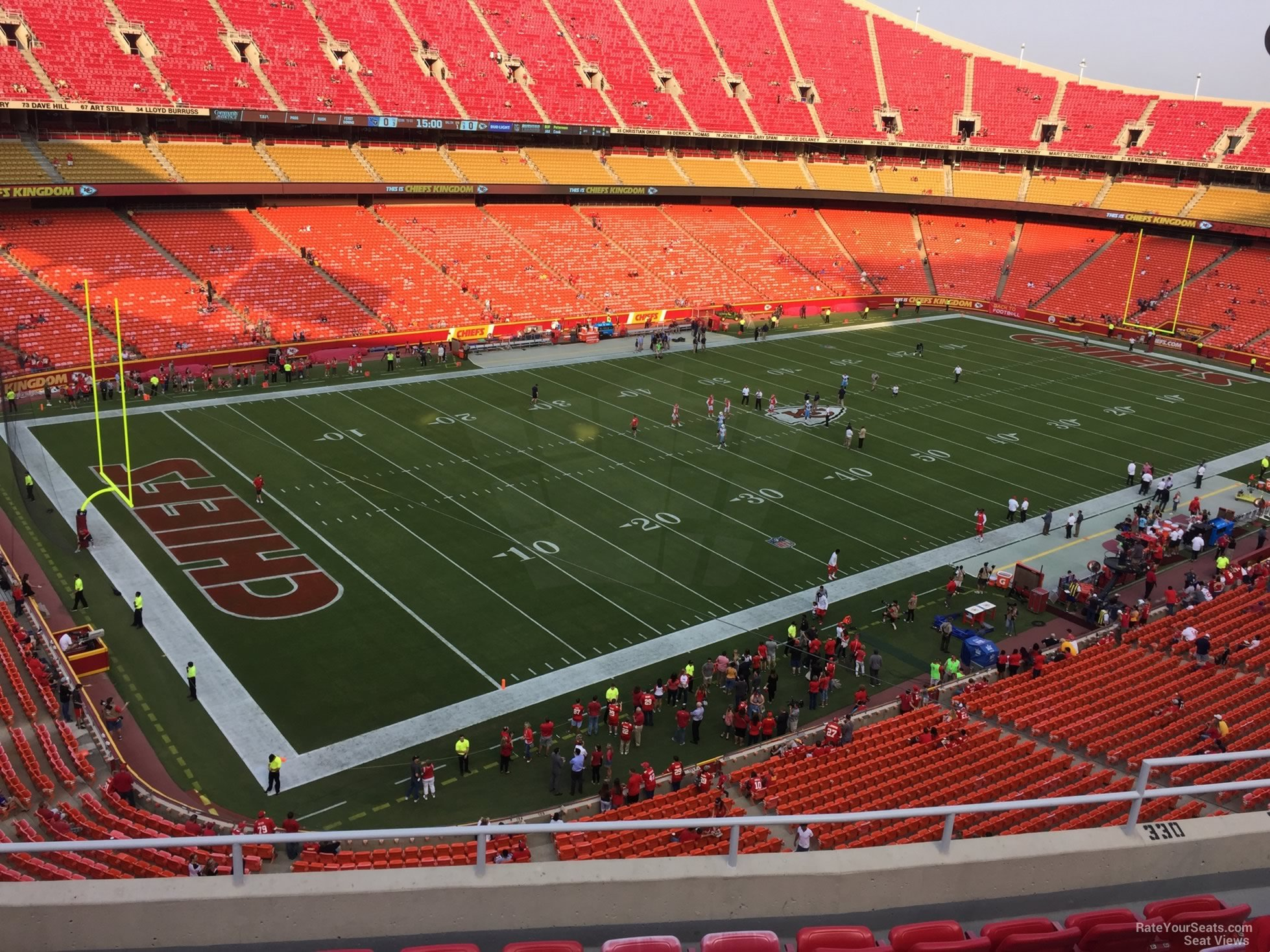 Seat View for Arrowhead Stadium Section 330, Row 7