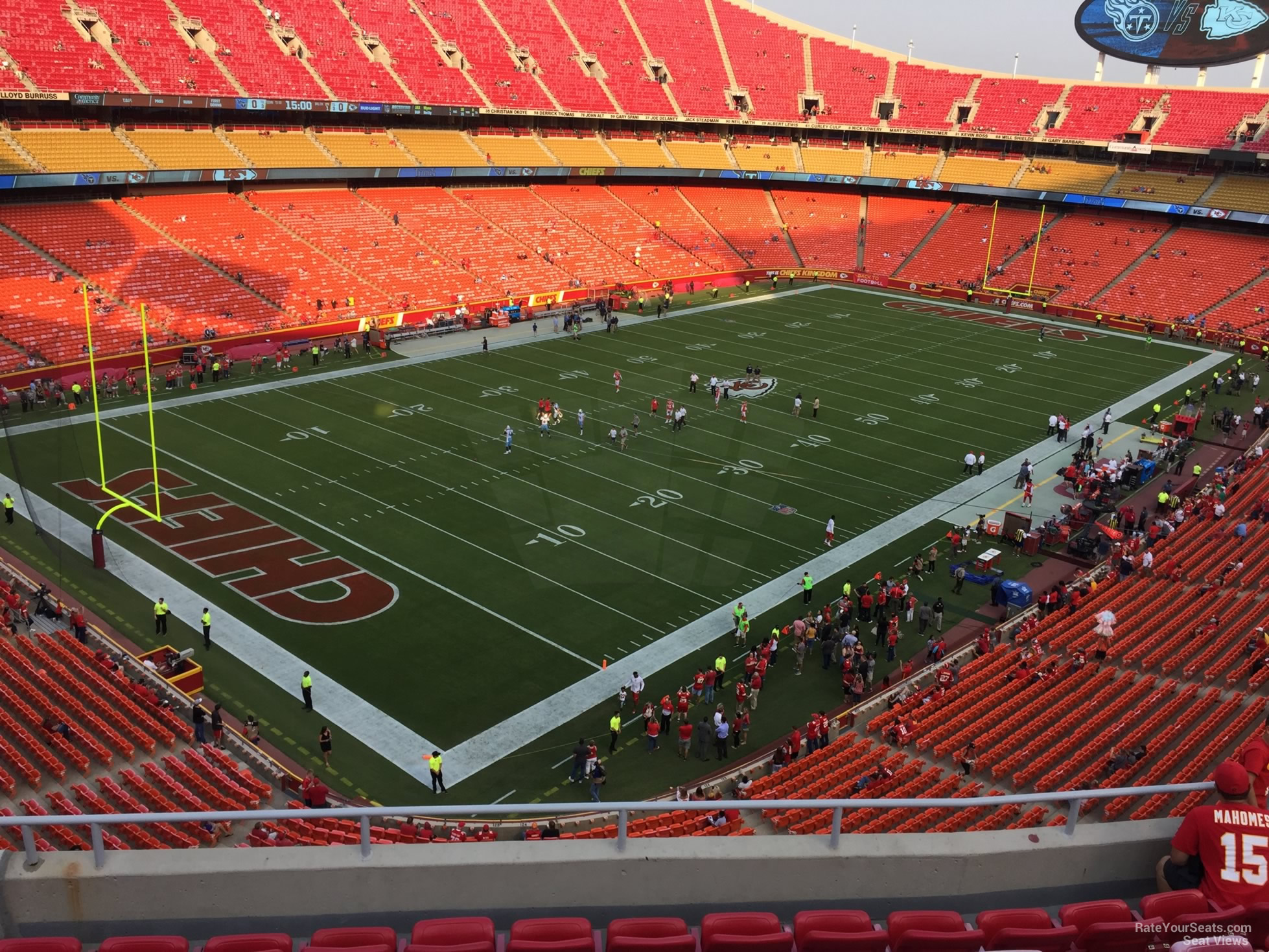 Seat View for Arrowhead Stadium Section 331, Row 7