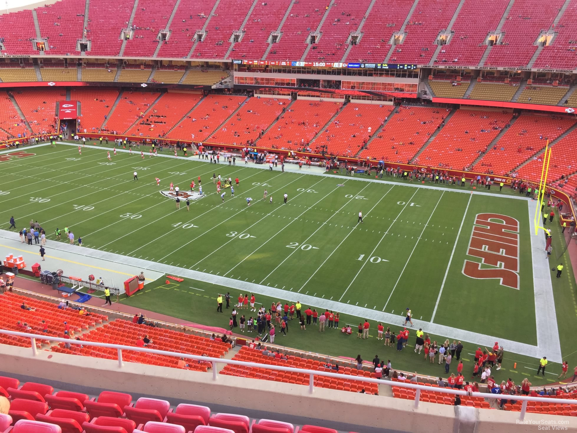 Seat View for Arrowhead Stadium Section 343, Row 7