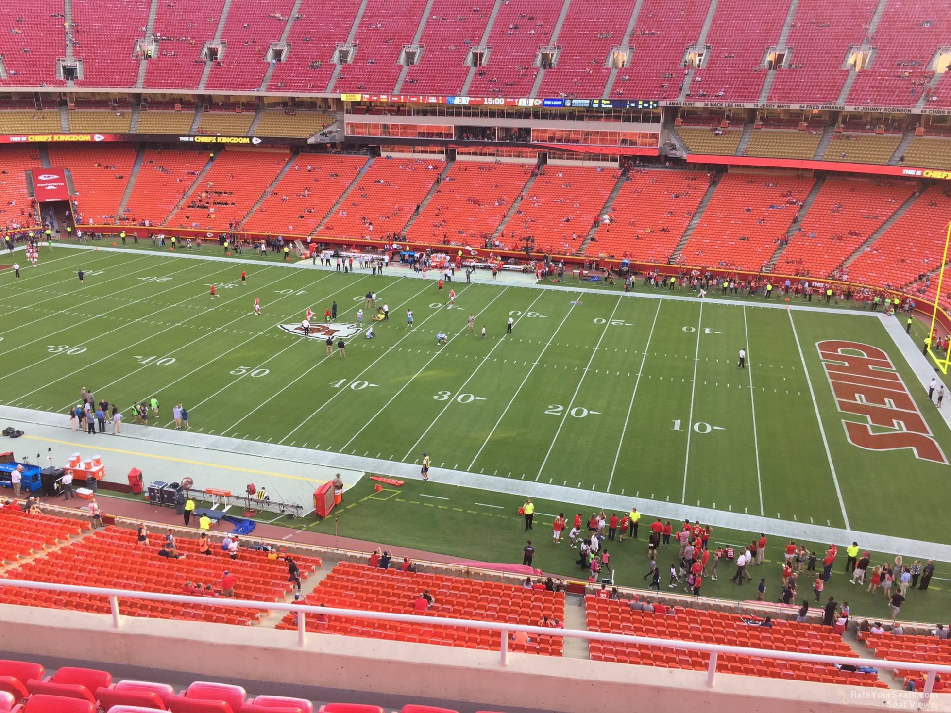 Seat View for Arrowhead Stadium Section 344, Row 7