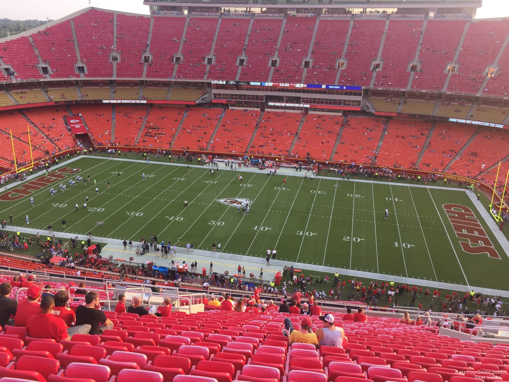 Section 345 seat view