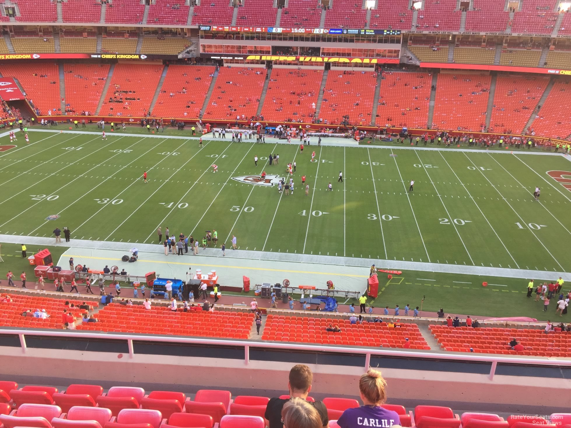 Seat View for Arrowhead Stadium Section 346, Row 7