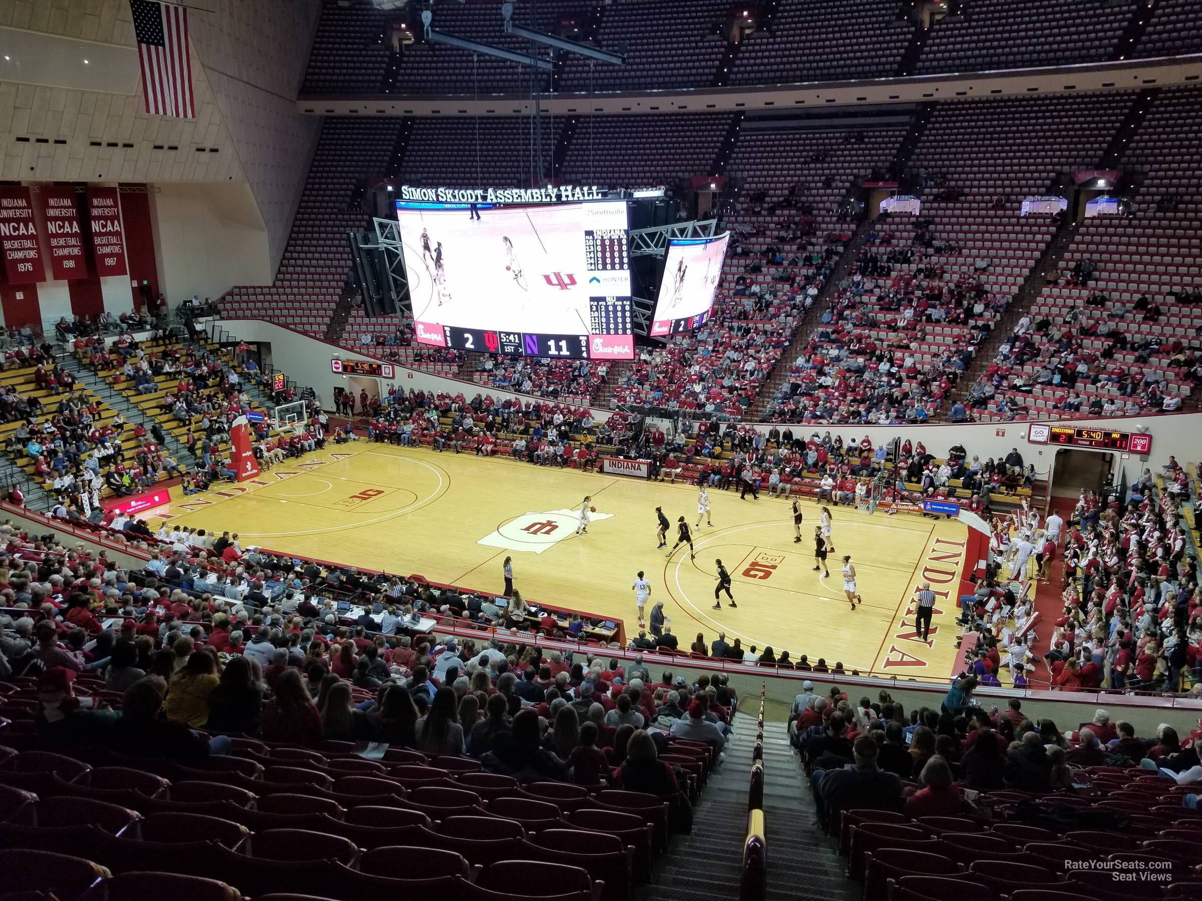 Seat View for Assembly Hall Section B, Row 26
