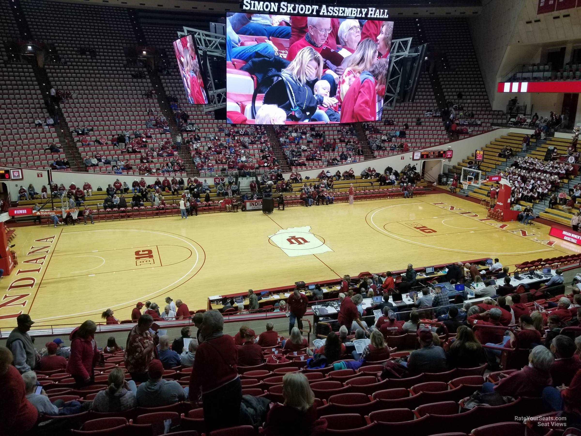 Seat View for Assembly Hall Section D, Row 15