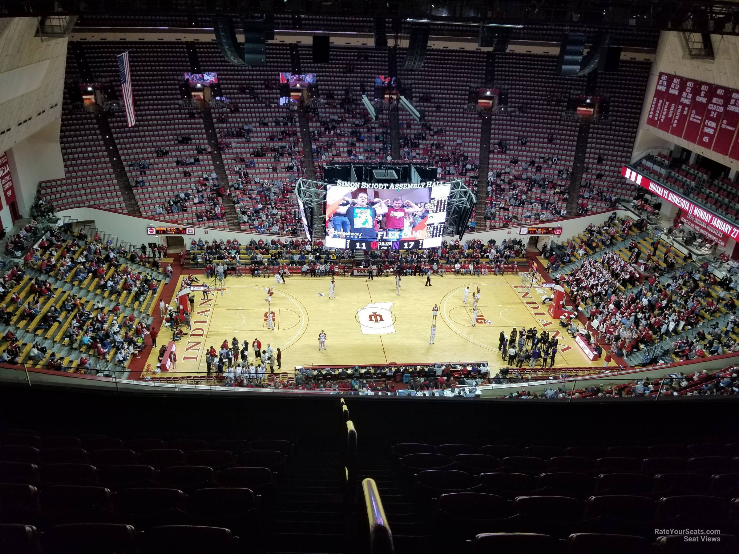 Seat View for Assembly Hall Section DD, Row 9