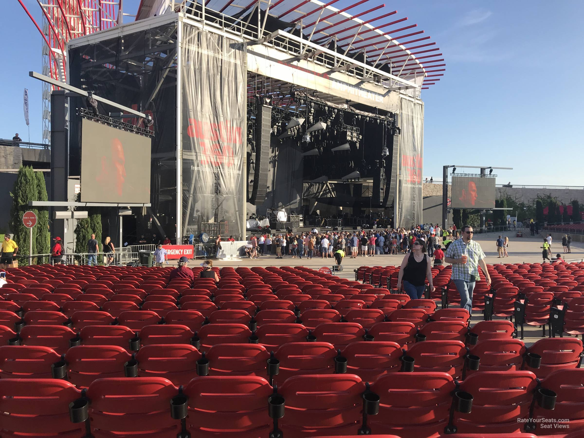 Concert Seat View For Austin360 Amphitheater Section 107