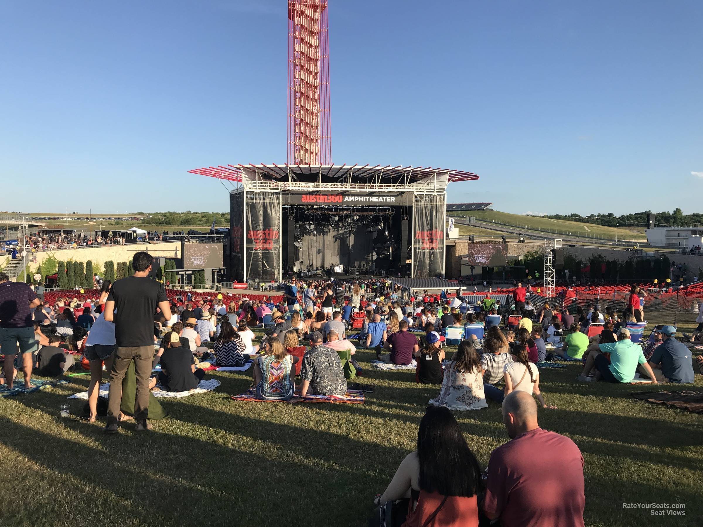 Concert Seat View For Austin360 Amphitheater Lawn