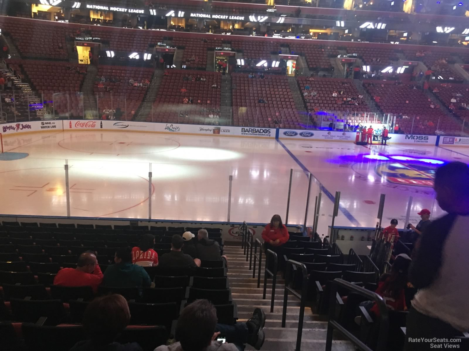 Seat View for BB&T Center Section 102, Row 13