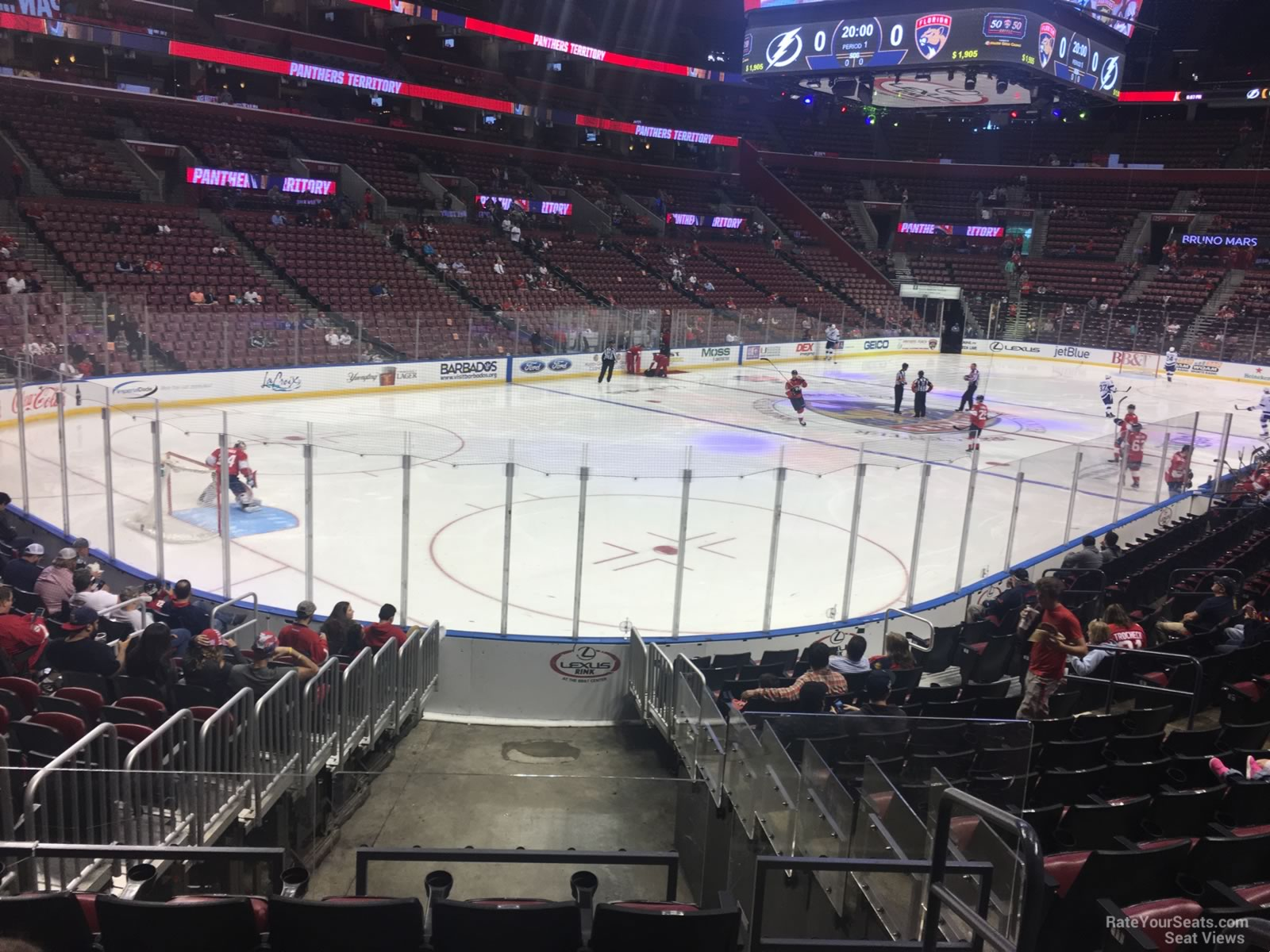 Seat View for BB&T Center Section 107, Row 13