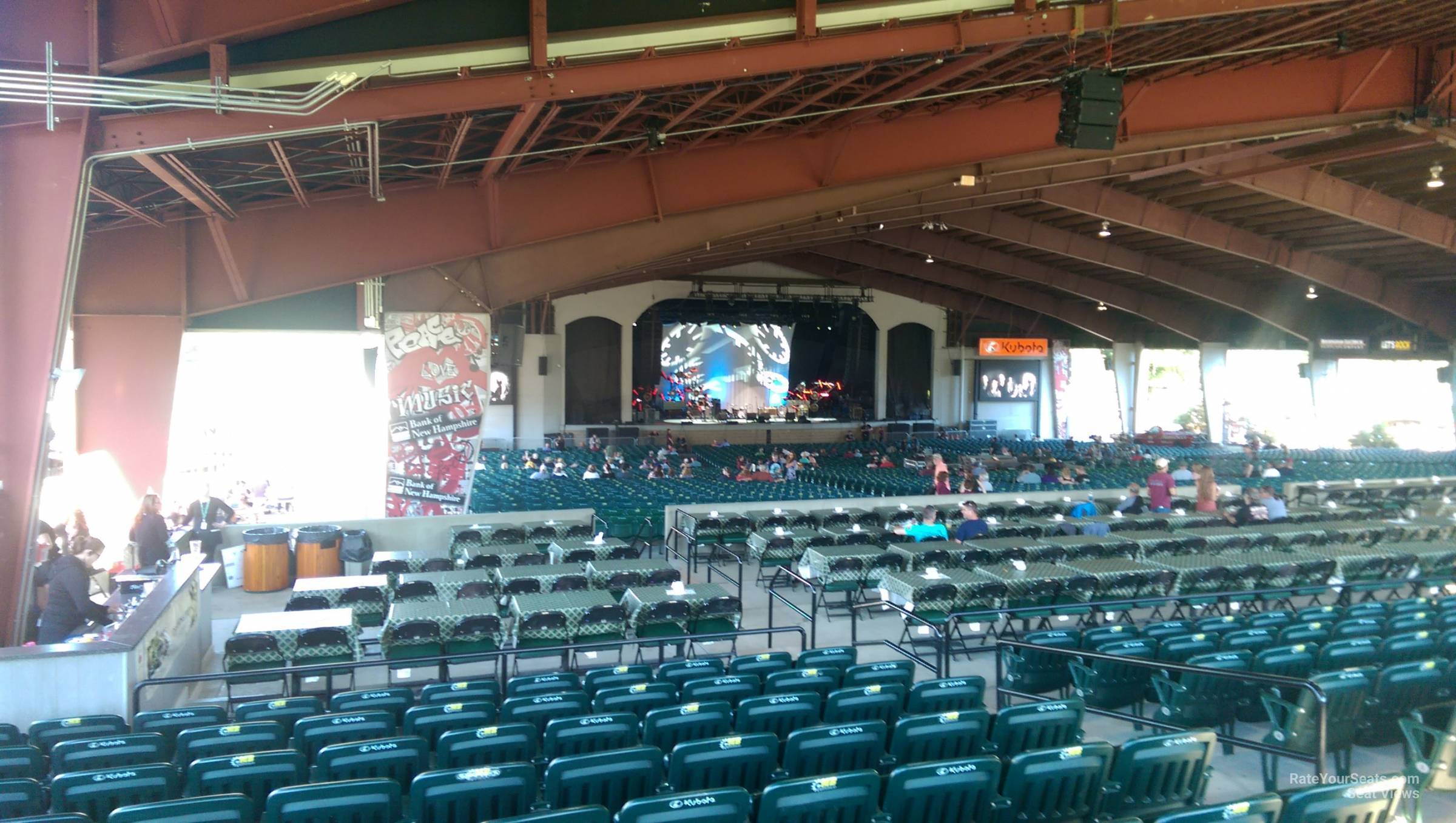 Concert Seat View For Bank Of New Hampshire Pavilion Meadowbrook Section 3a