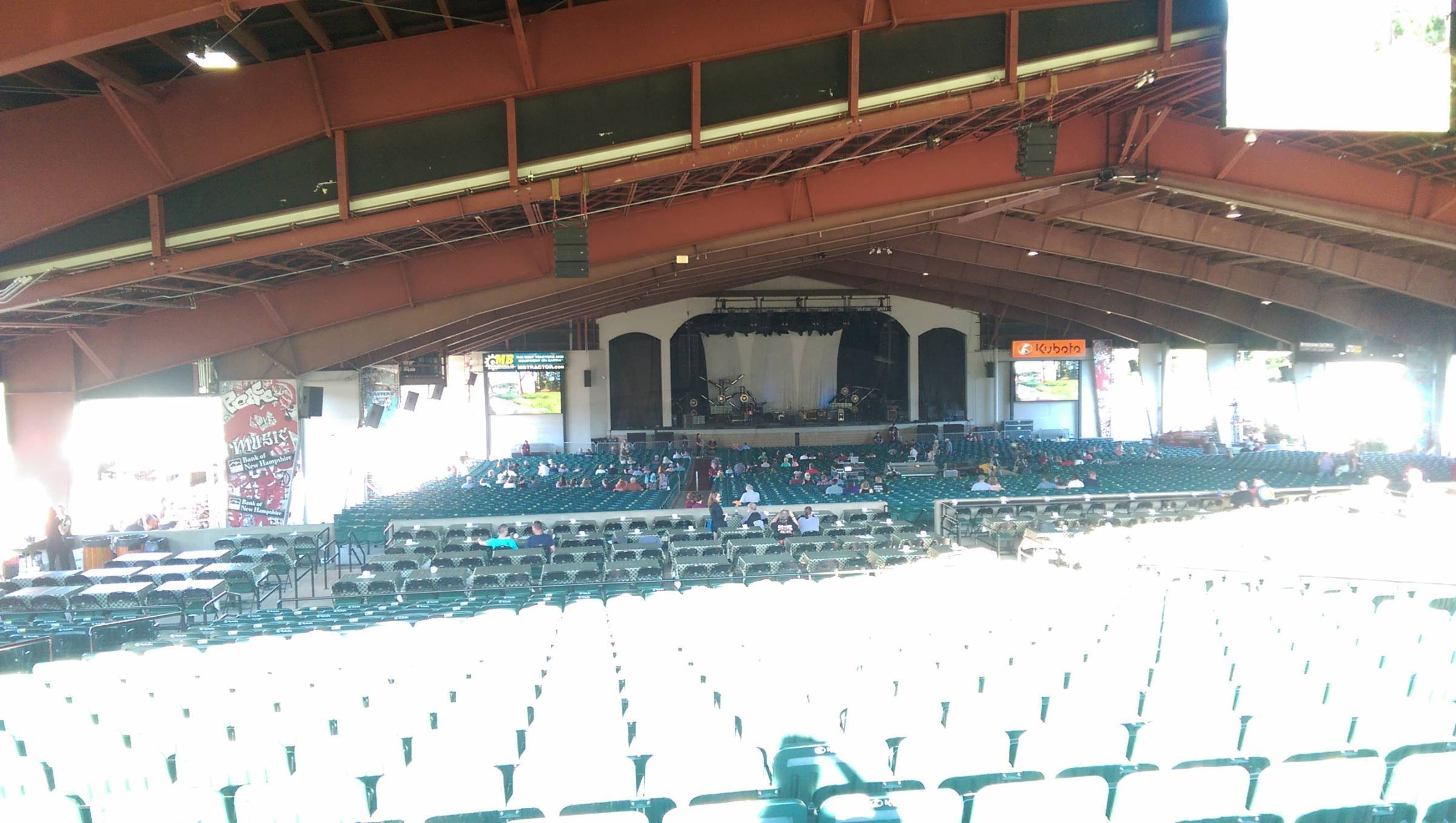 Concert Seat View For Bank Of New Hampshire Pavilion Meadowbrook Section 3b