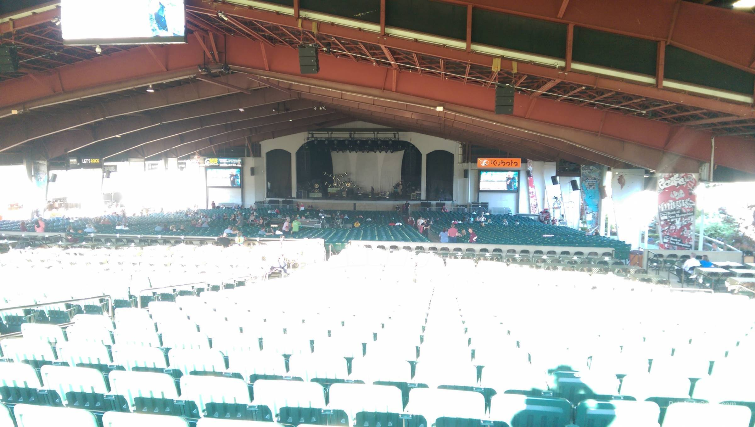 Concert Seat View For Bank Of New Hampshire Pavilion Meadowbrook Section