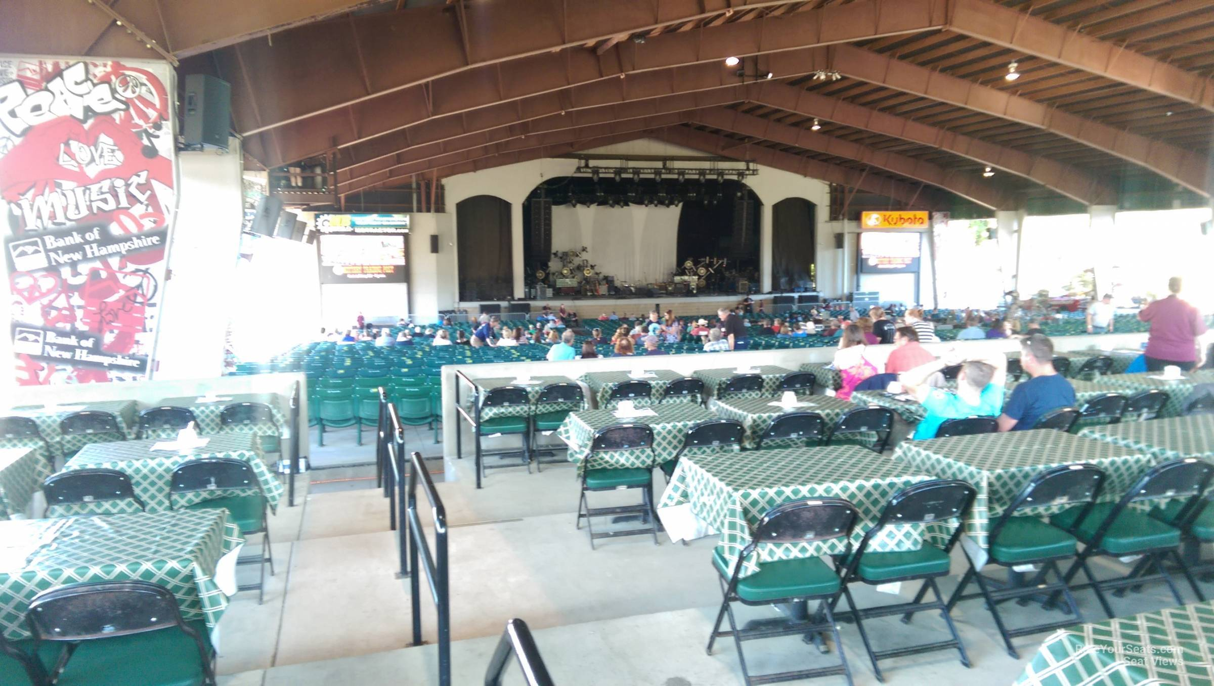 Concert Seat View For Bank Of New Hampshire Pavilion Meadowbrook Club 3b