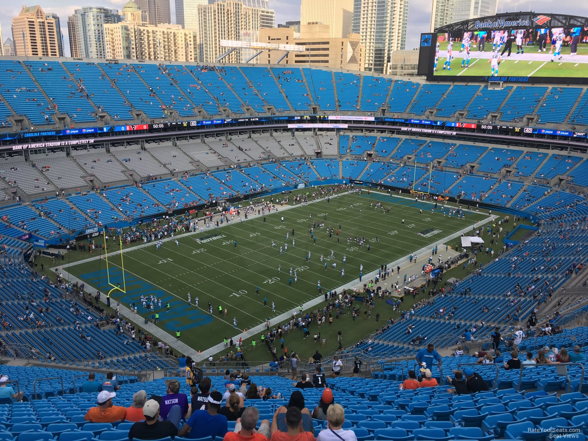 Seat View for Bank of America Stadium Section 549, Row 29