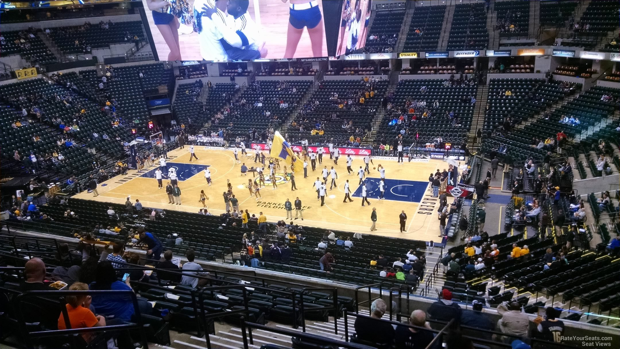 Seat View for Bankers Life Fieldhouse Section 115, Row 11