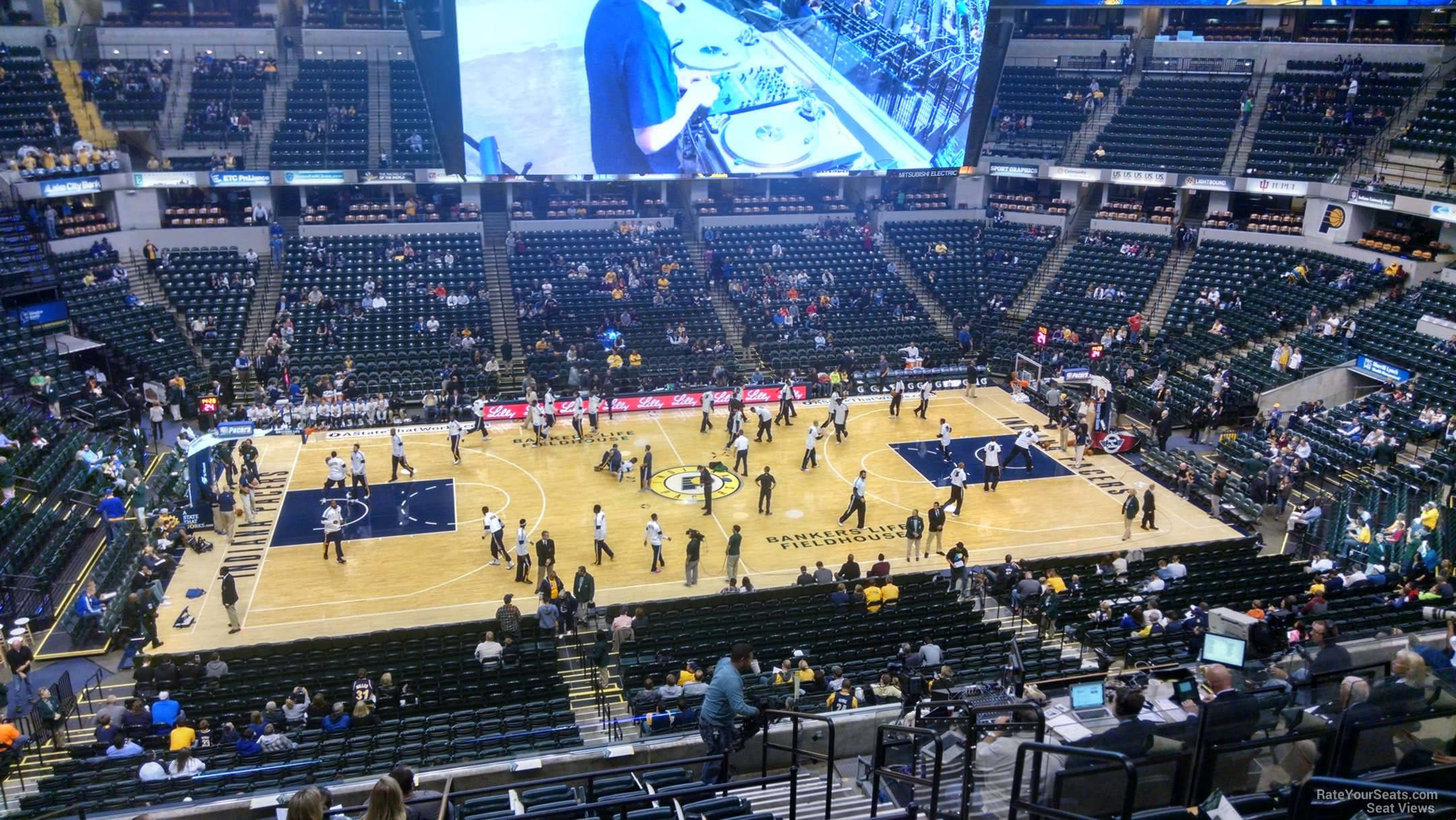 Seat View for Bankers Life Fieldhouse Section 118, Row 11
