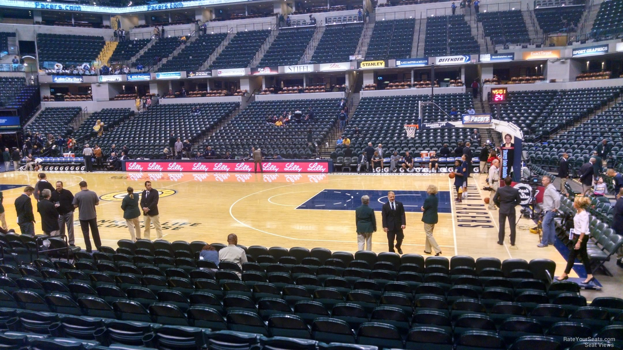 Seat View for Bankers Life Fieldhouse Section 15, Row 13