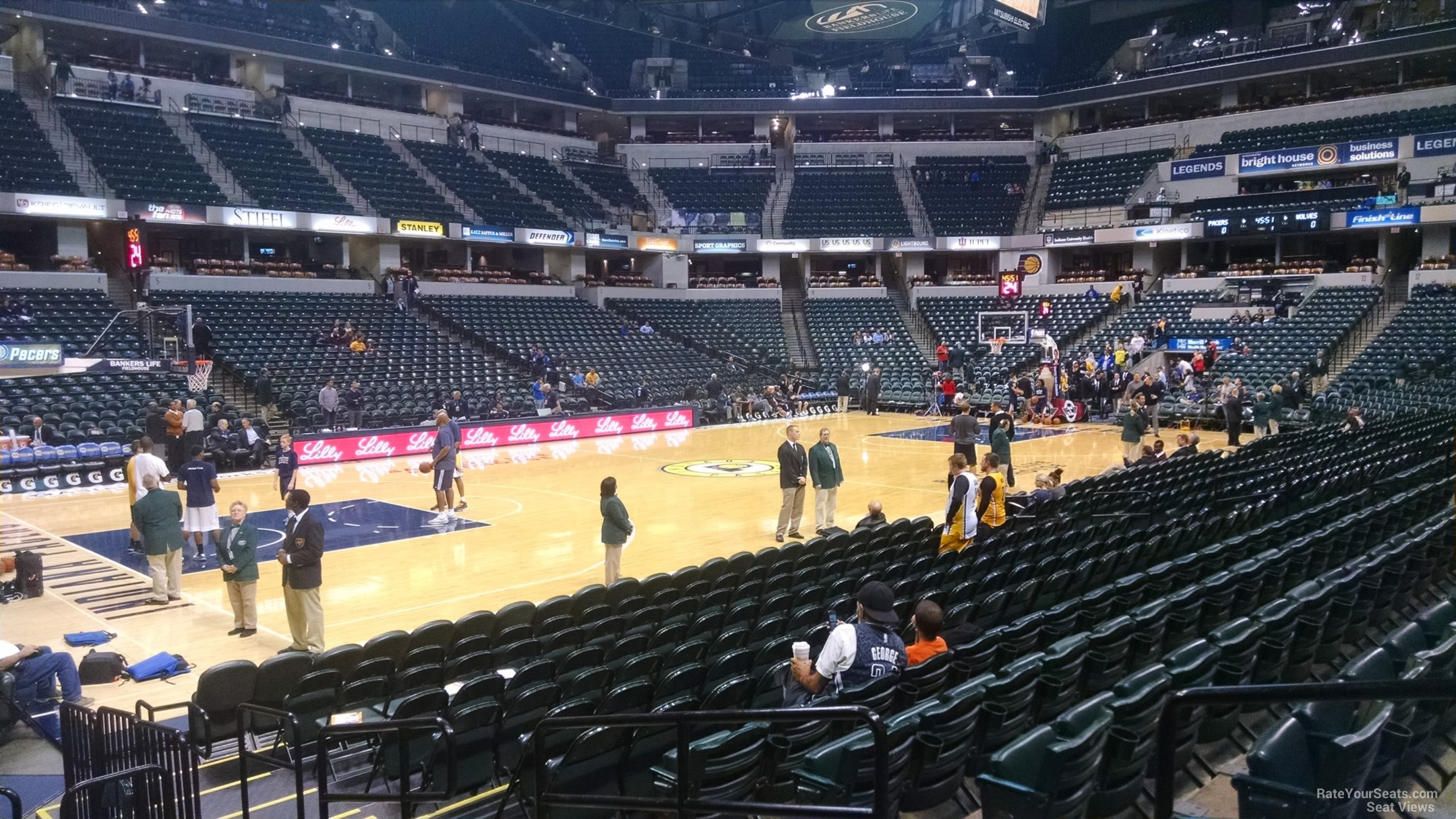 Seat View for Bankers Life Fieldhouse Section 18, Row 13