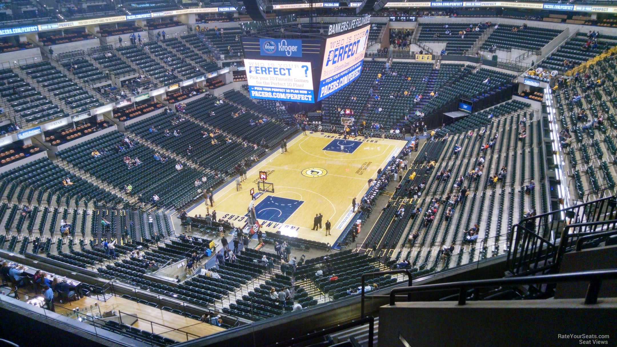 Seat View for Bankers Life Fieldhouse Section 214, Row 7