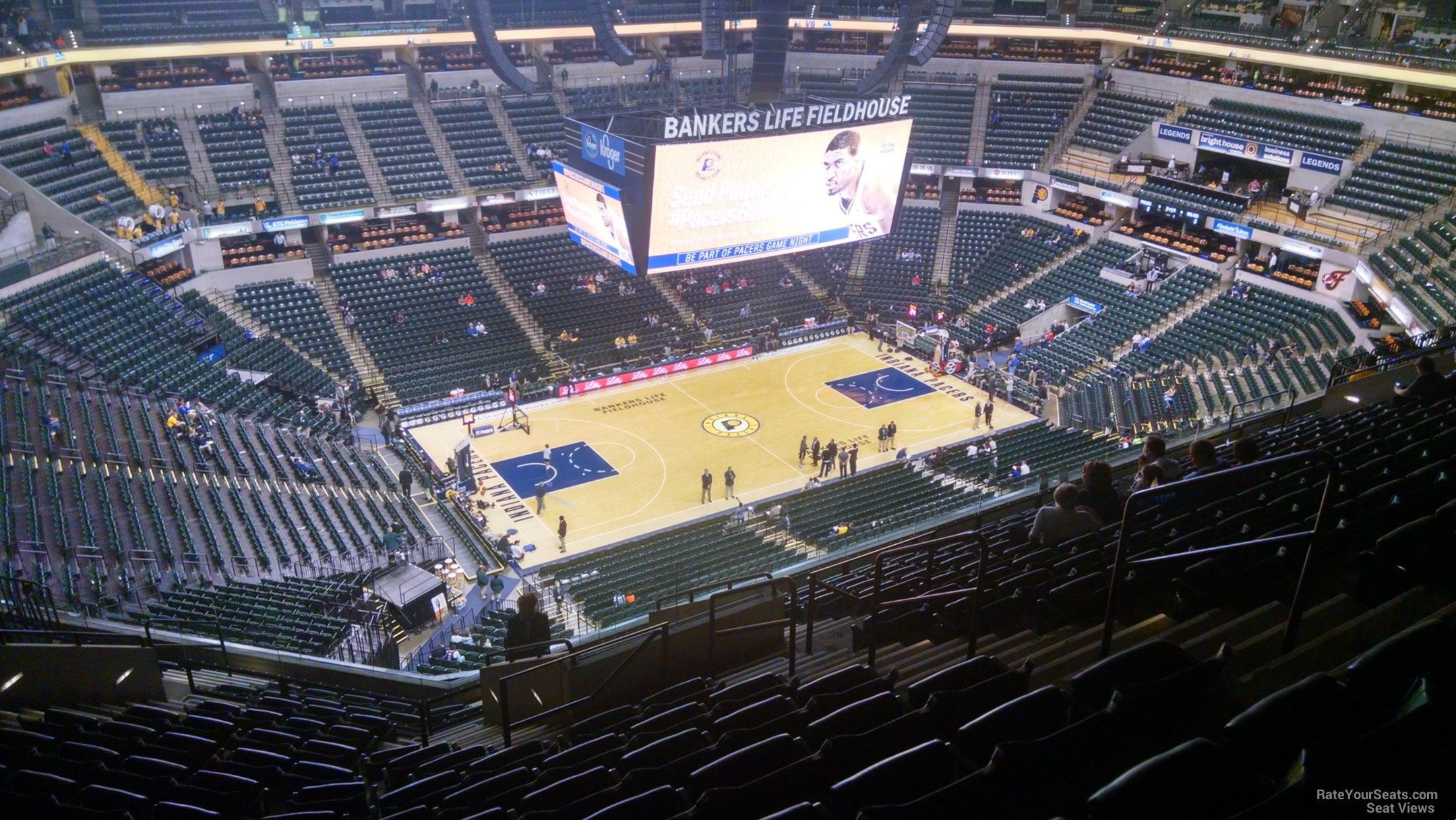 Seat View for Bankers Life Fieldhouse Section 227, Row 15
