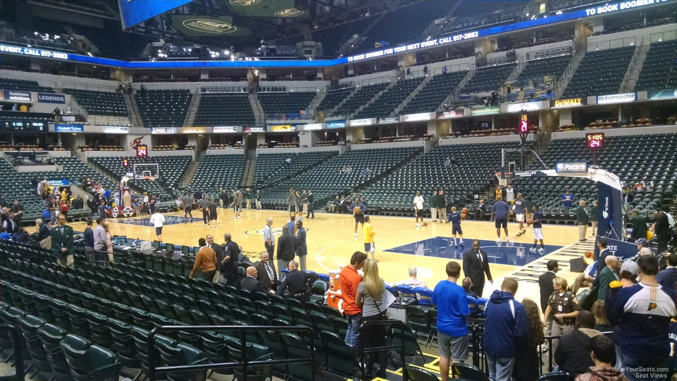 Seat View for Bankers Life Fieldhouse Section 3, Row 13