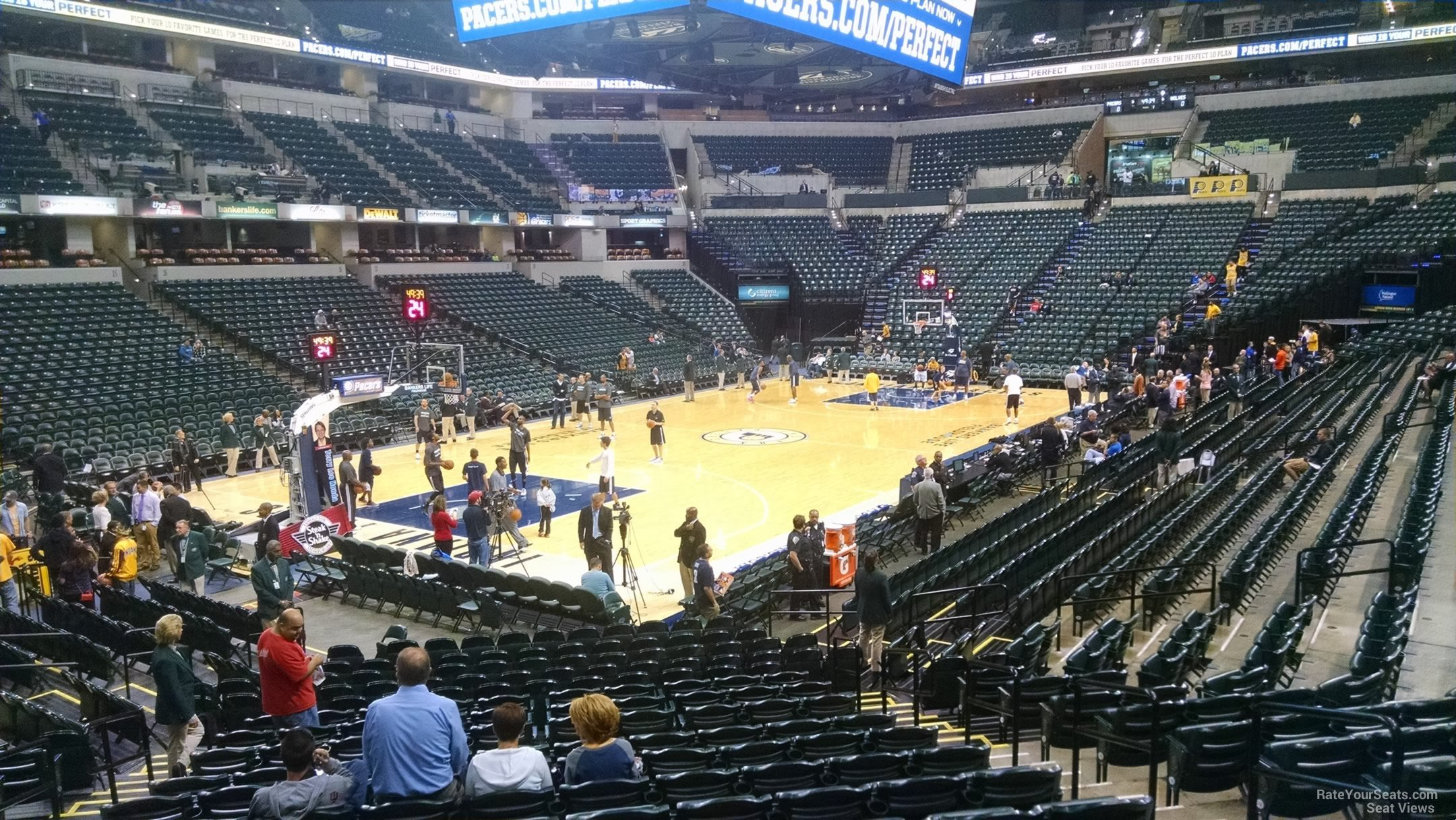 Seat View for Bankers Life Fieldhouse Section 8, Row 21
