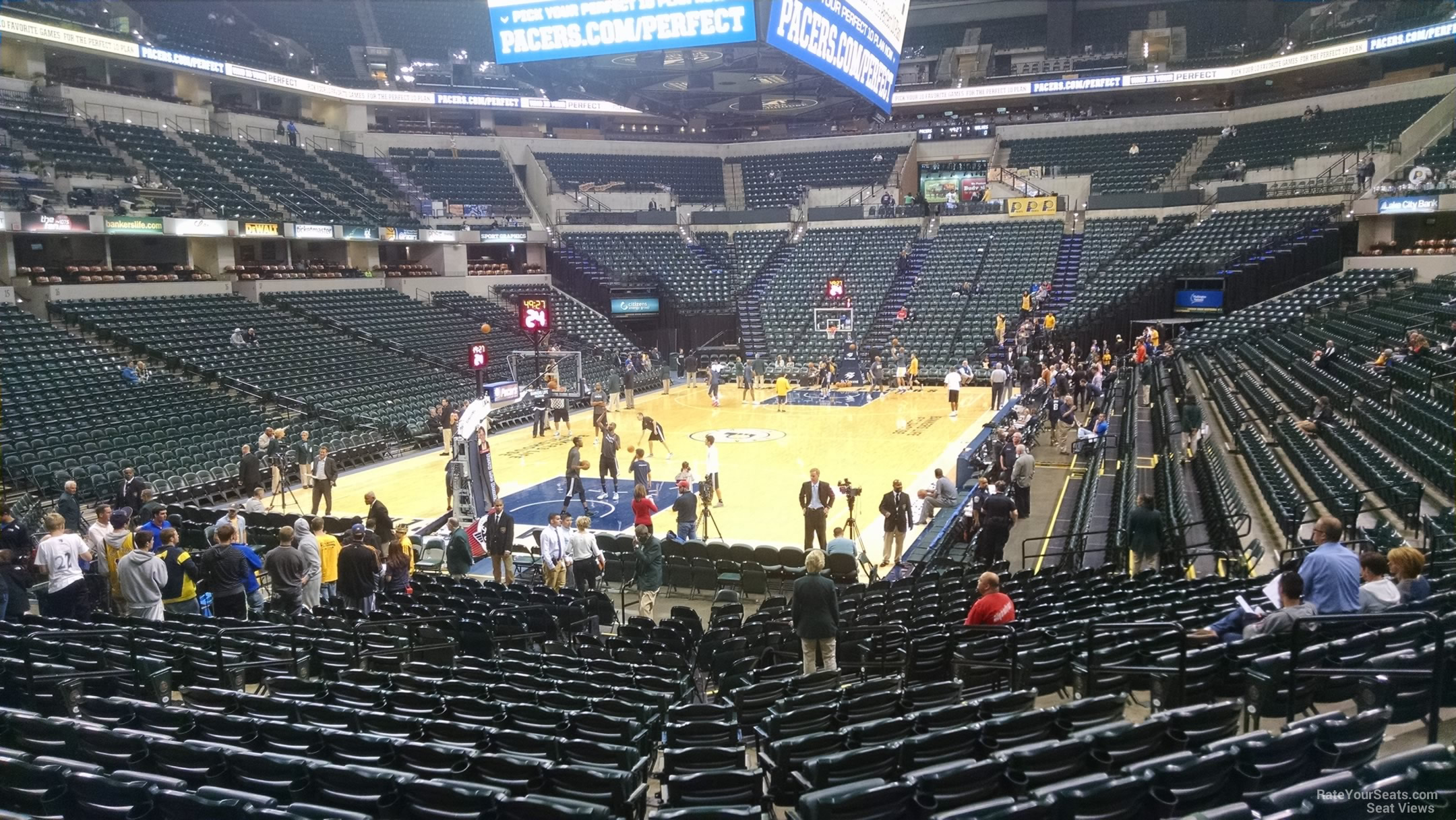 Seat View for Bankers Life Fieldhouse Section 9