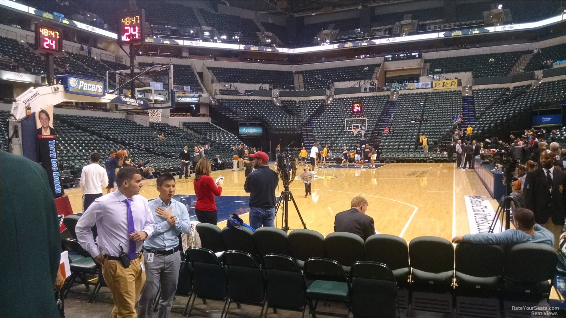 Bankers Fieldhouse Section 9 Row 5 on 10 7 2014k
