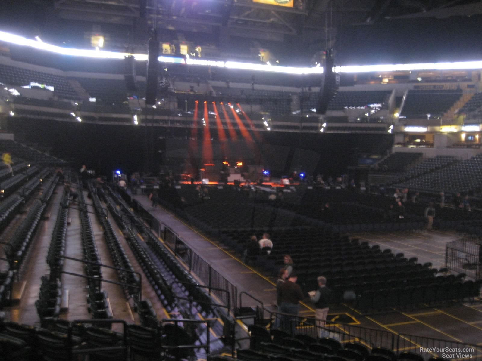 Concert Seat View For Bankers Life Fieldhouse Section 13
